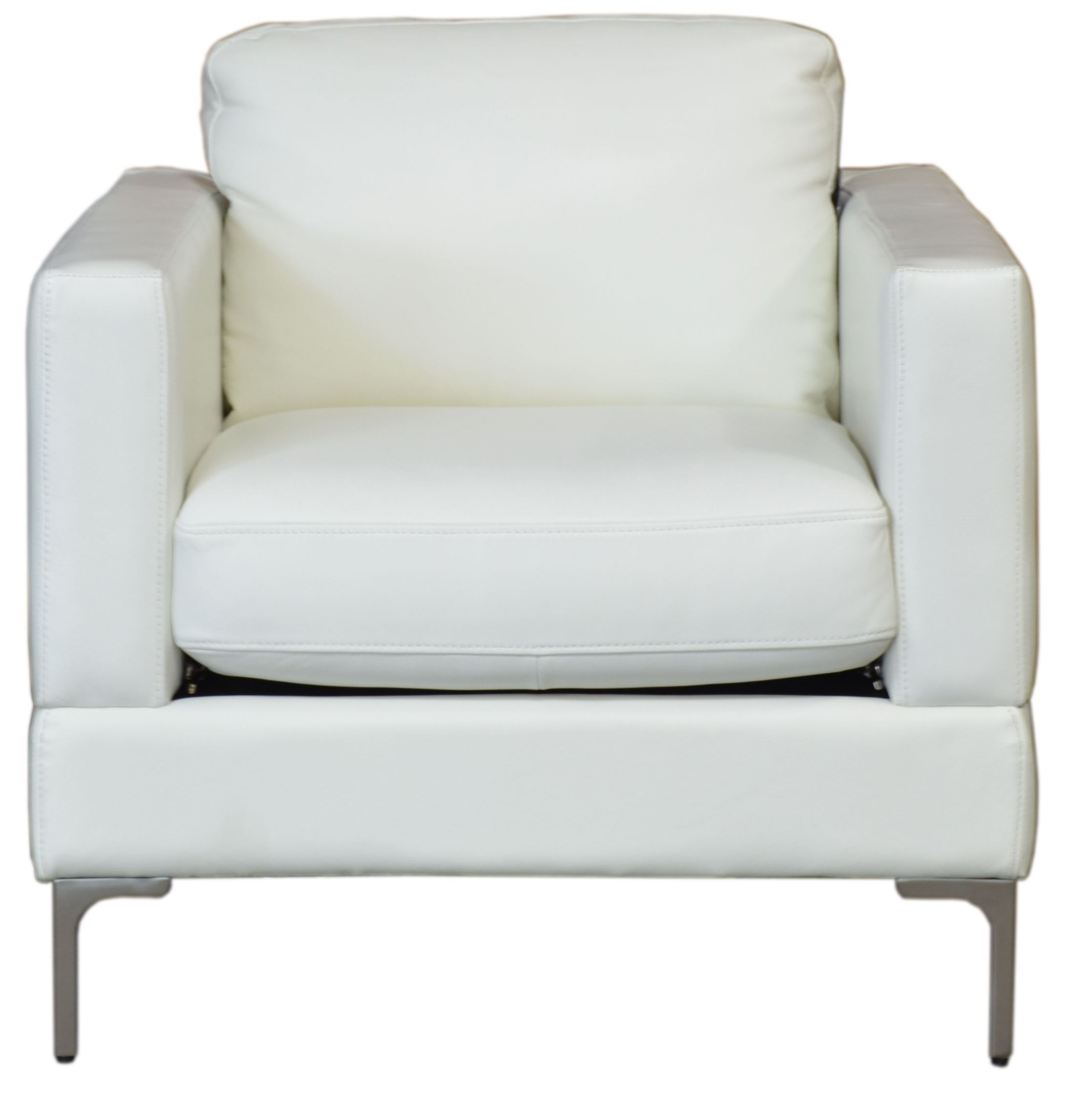 Tobia Snow White Leather Chair From Moroni Coleman Furniture