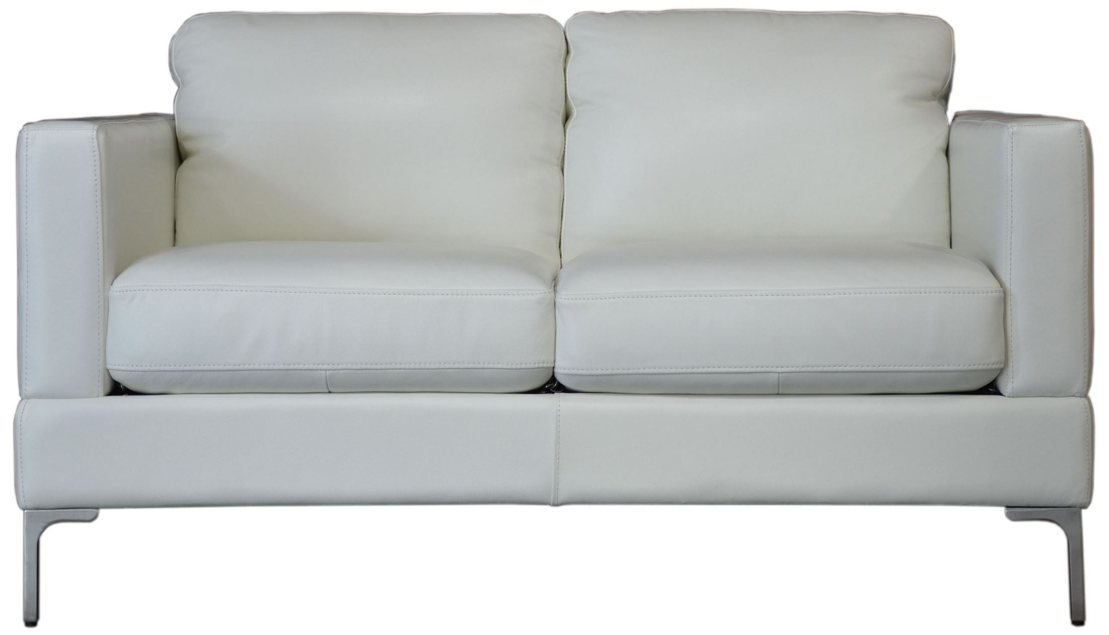 Tobia Snow White Leather Loveseat From Moroni Coleman Furniture