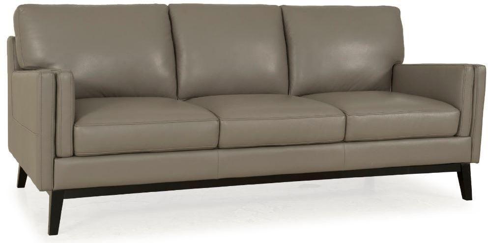 Osman Dark Grey Top Grain Leather Sofa From Moroni