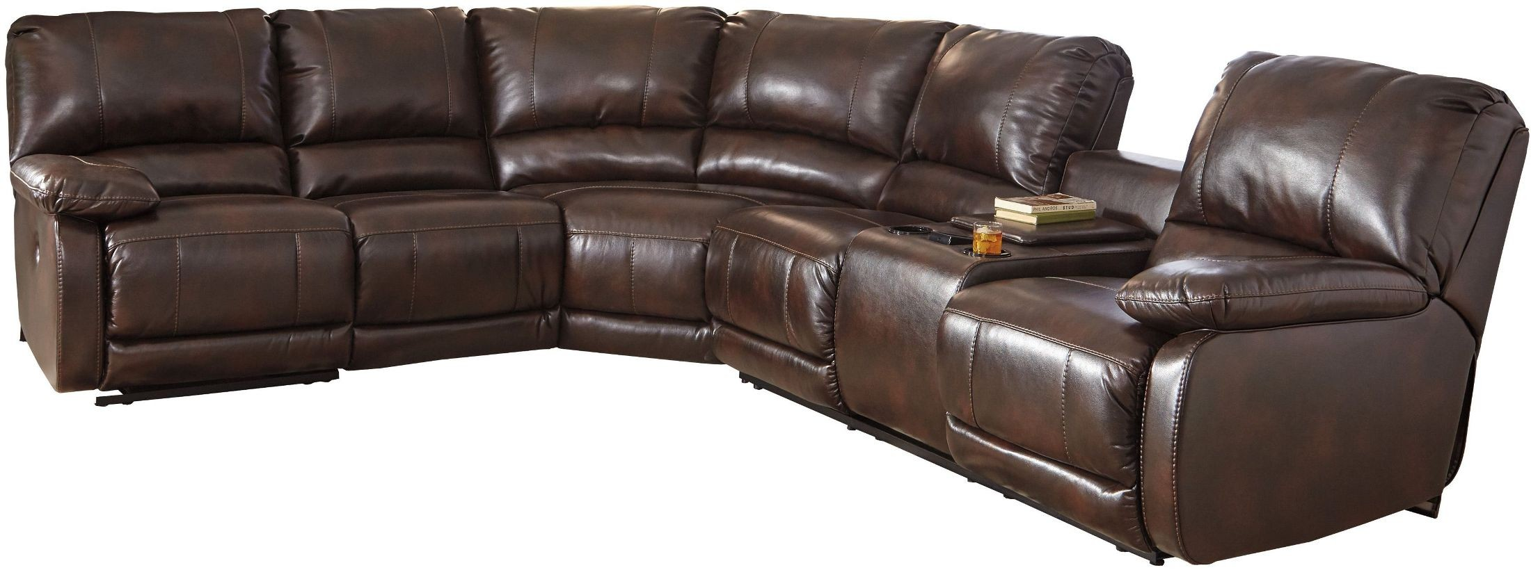 Hallettsville Saddle Power Reclining Sectional From Ashley