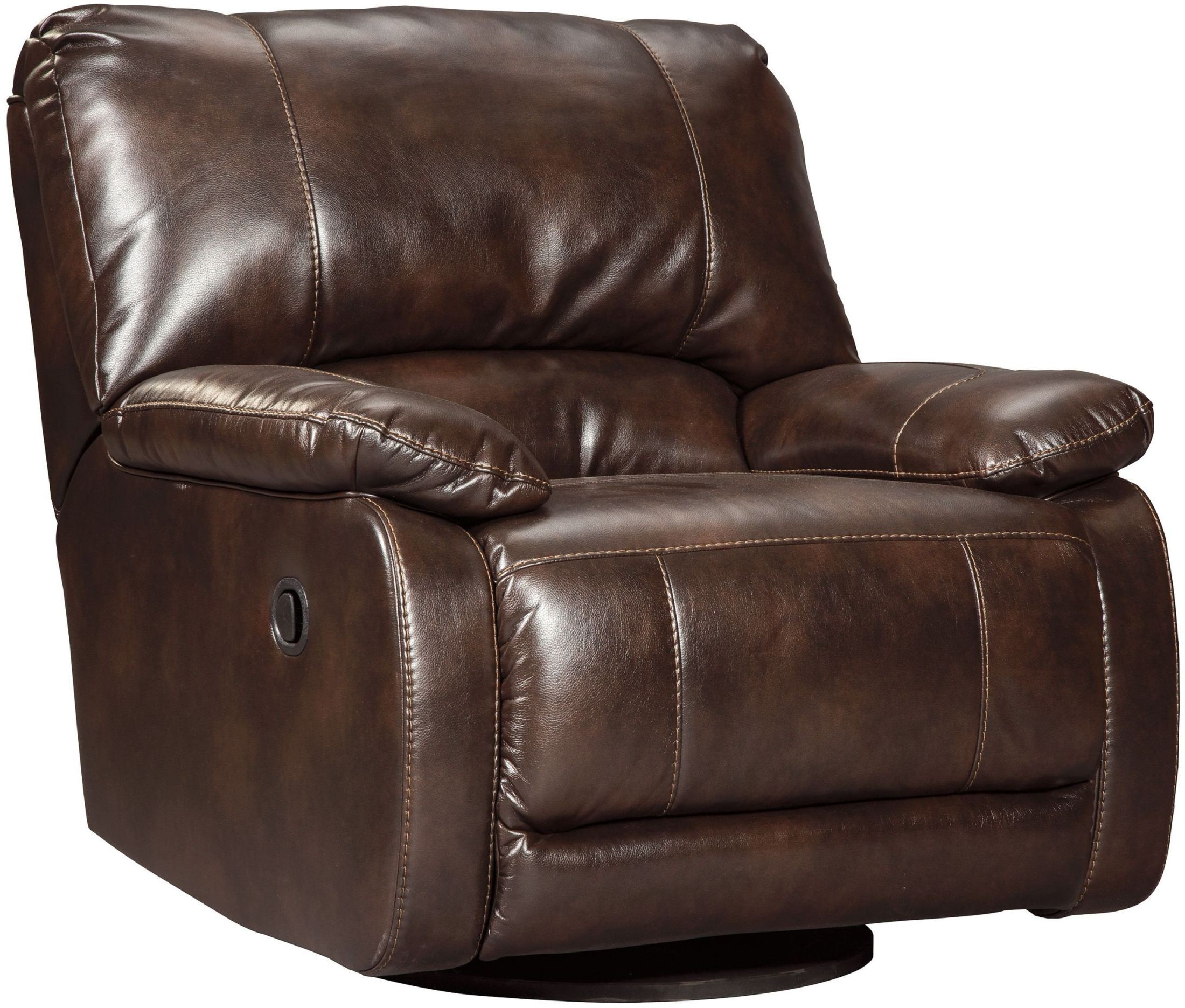 hallettsville saddle swivel glider recliner from ashley coleman