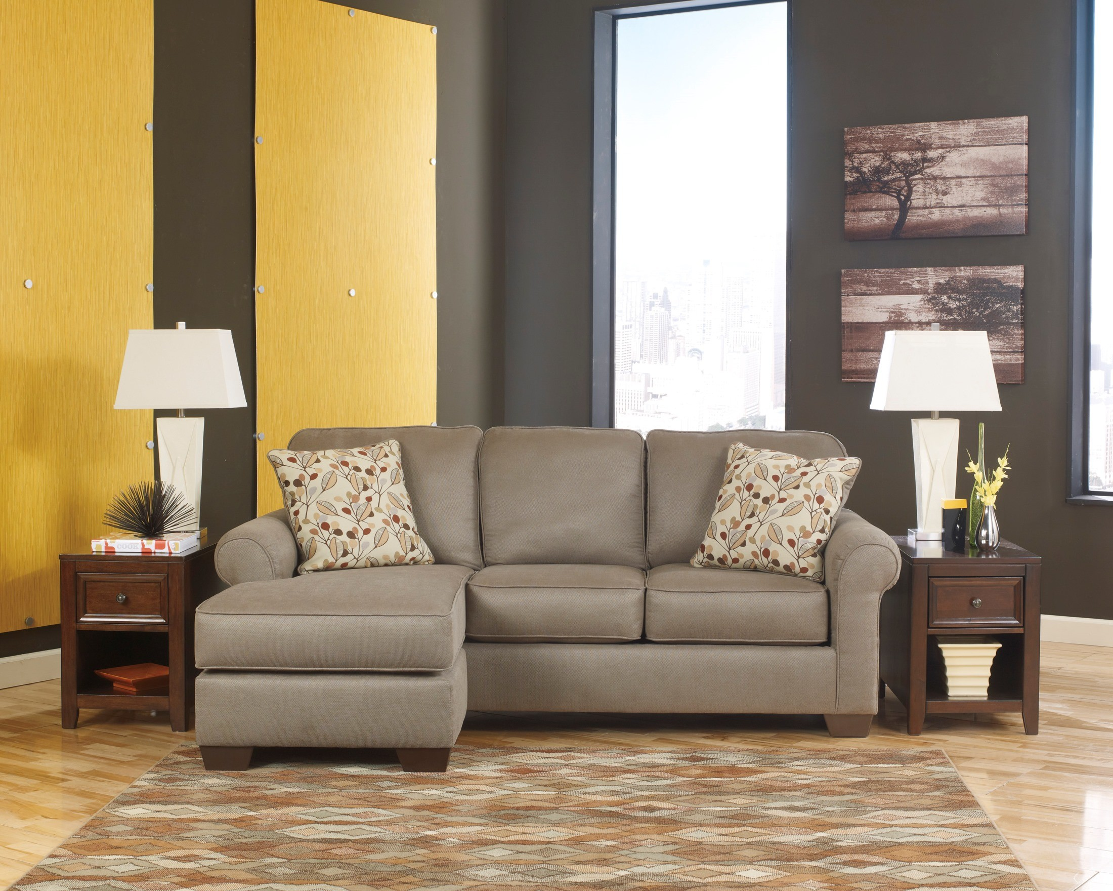 Danely dusk sofa with chaise from ashley 3550018 - Apartment size sofa with chaise ...