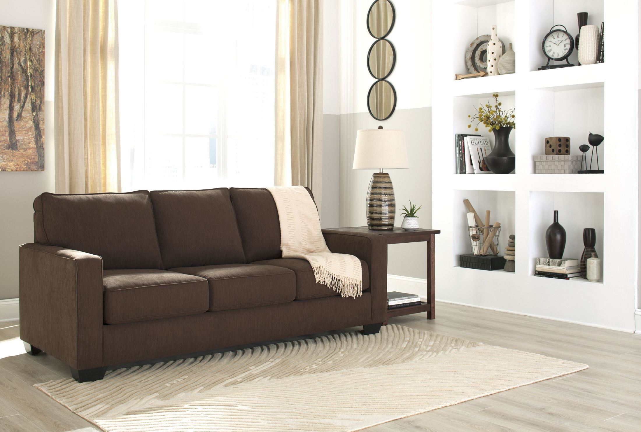 Zeb Espresso Queen Sofa Sleeper 3590339 Ashley