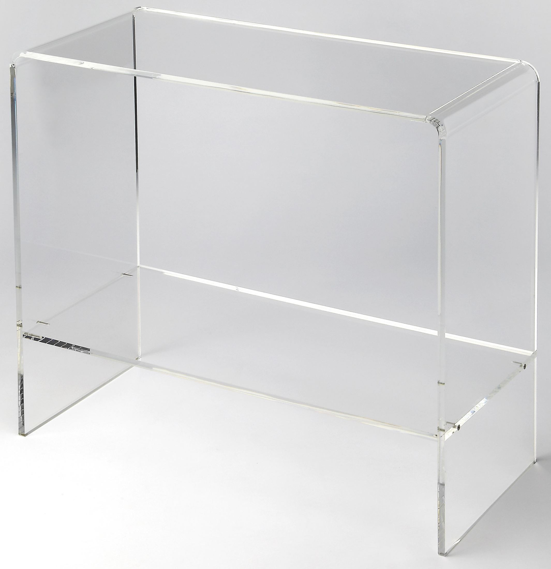 Crystal Clear Acrylic Console Table From Butler Coleman