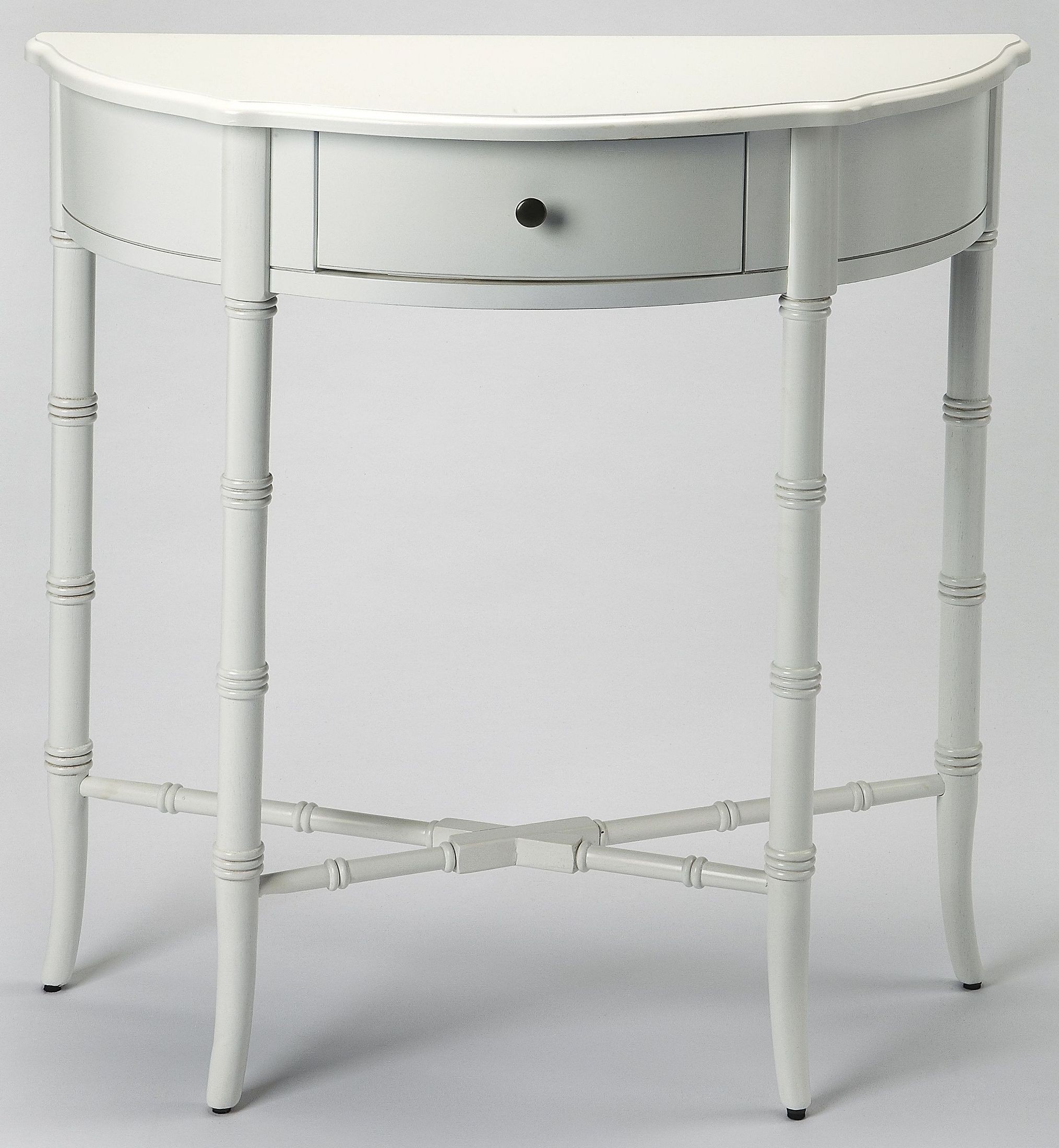 Skilling white demilune console table from butler coleman furniture White demilune console table