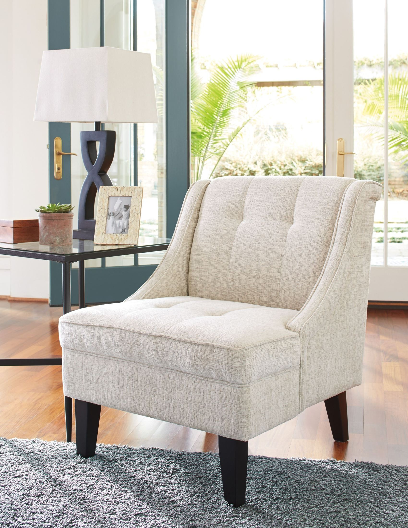 cream accent chair cerdic accent chair 3640060 13574 | 36400 60