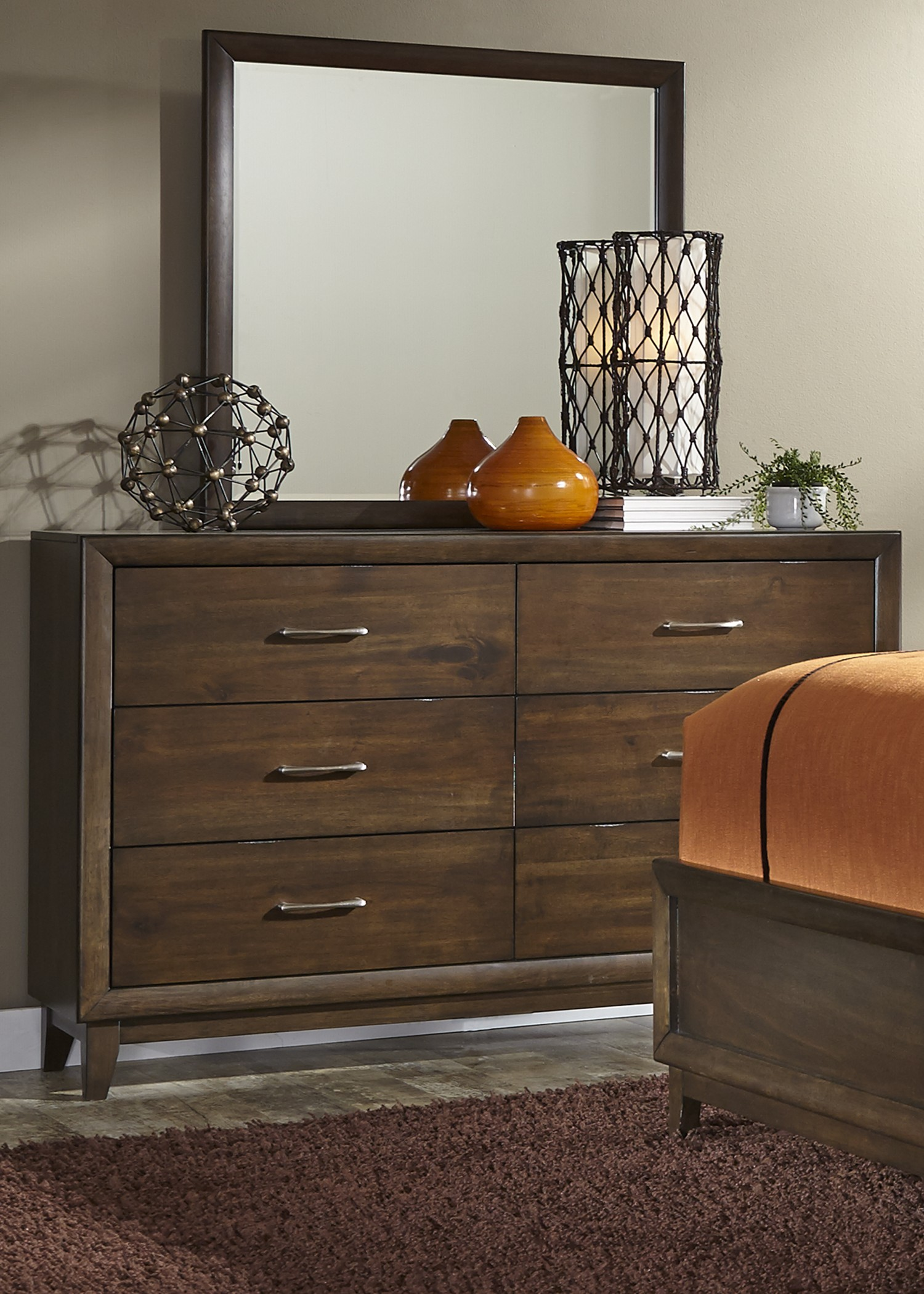 Square Bedroom Furniture ~ Hudson square espresso panel storage bedroom set from