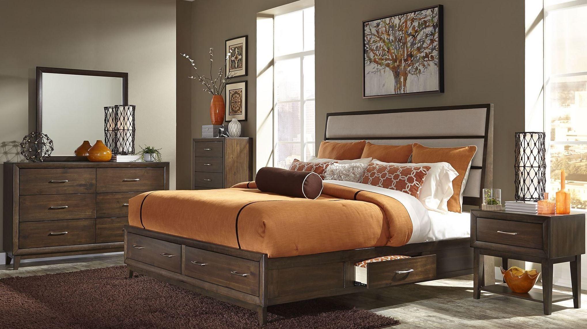 Hudson Square Espresso Panel Storage Bedroom Set, 365-BR