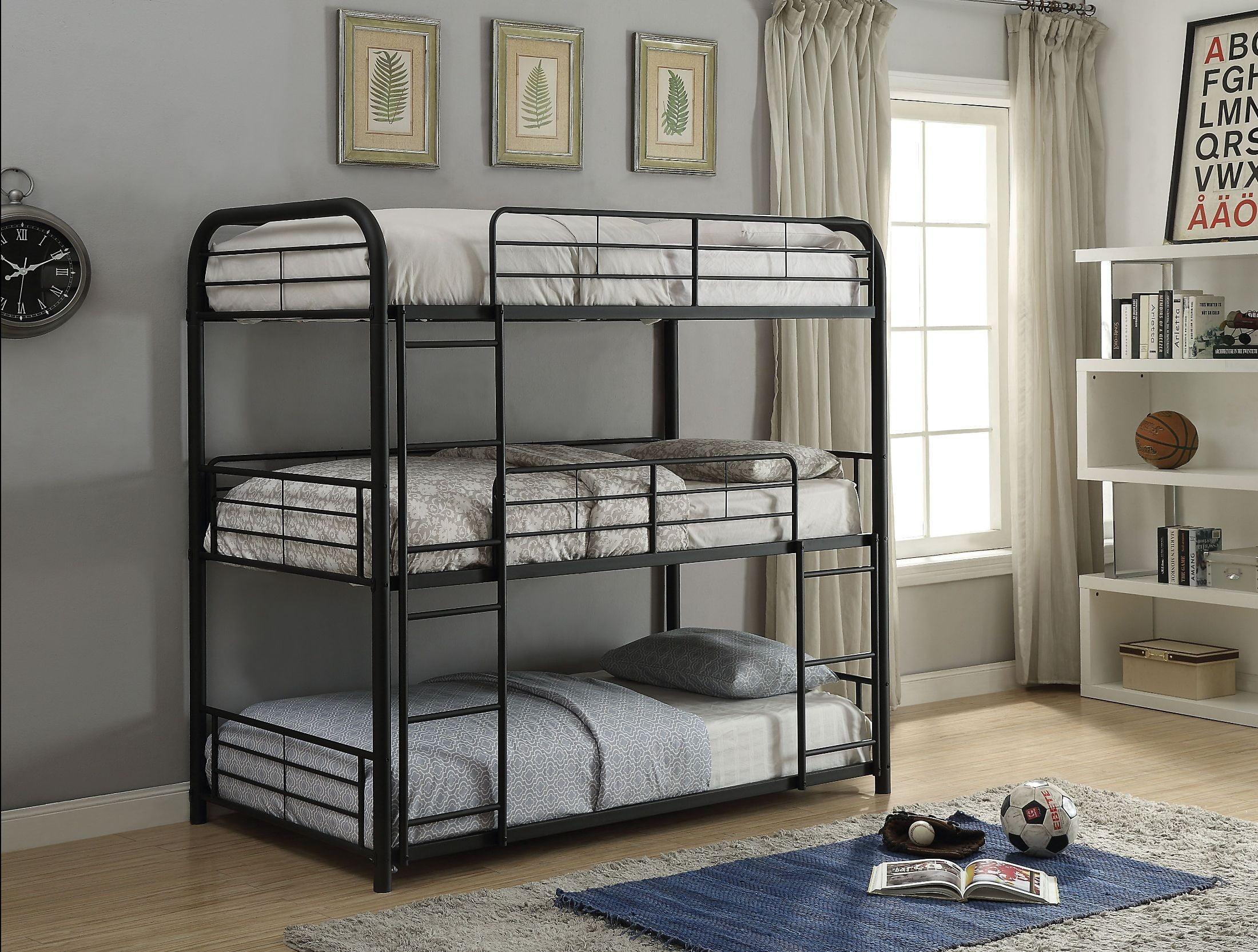 Cairo Sandy Black Twin Triple Bunk Bed From Acme Coleman