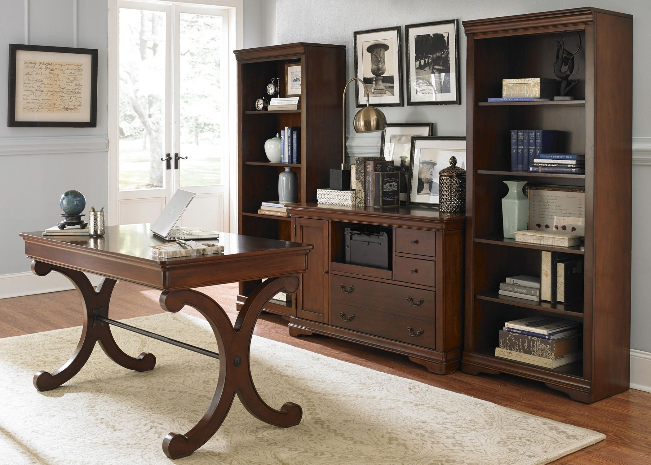 Home Office Sets Office Furniture Elements: Harbor Ridge Rustic Cherry Home Office Set From Liberty