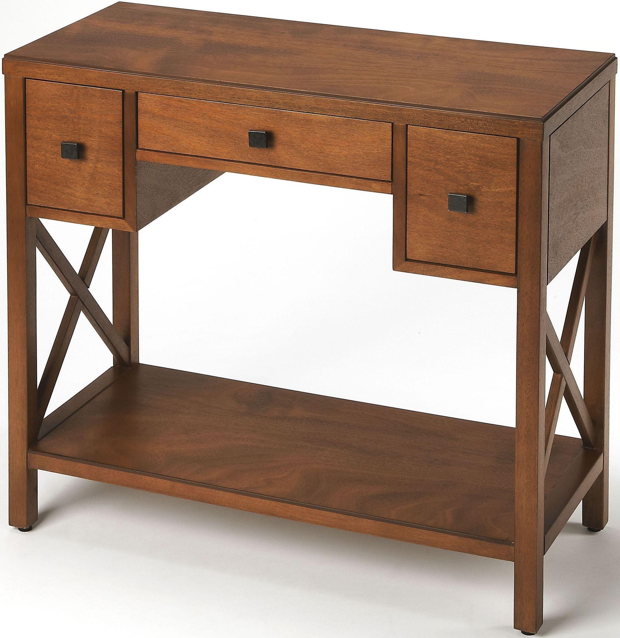 Butler loft warren caramel console table from