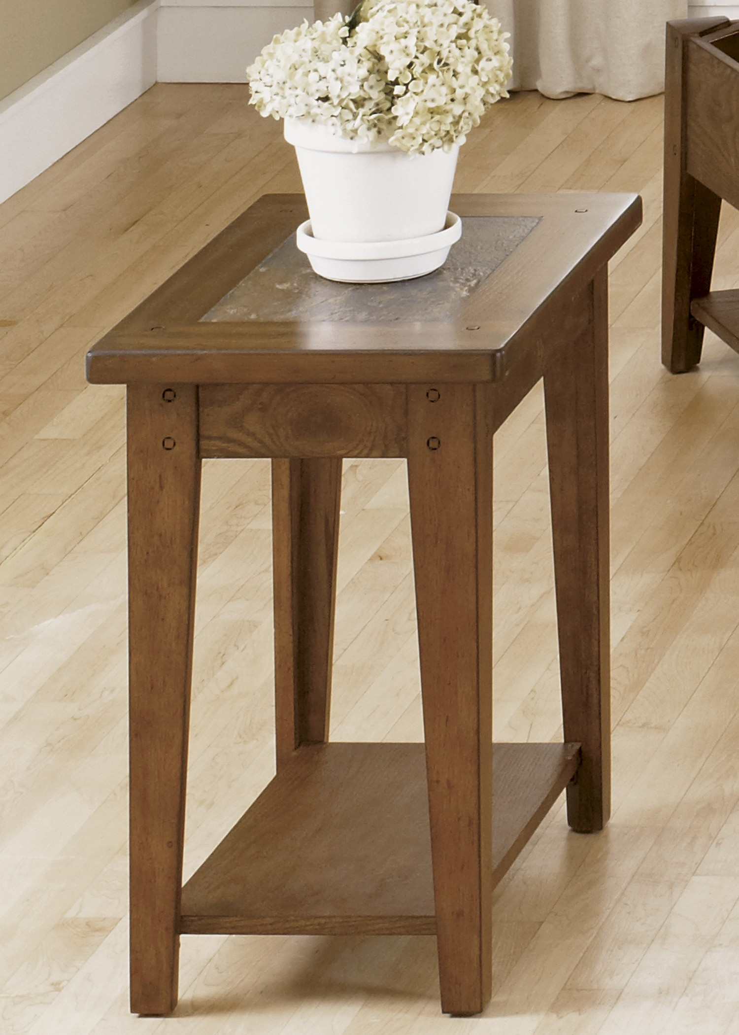 Hearthstone Rustic Oak Chair Side Table From Liberty 382