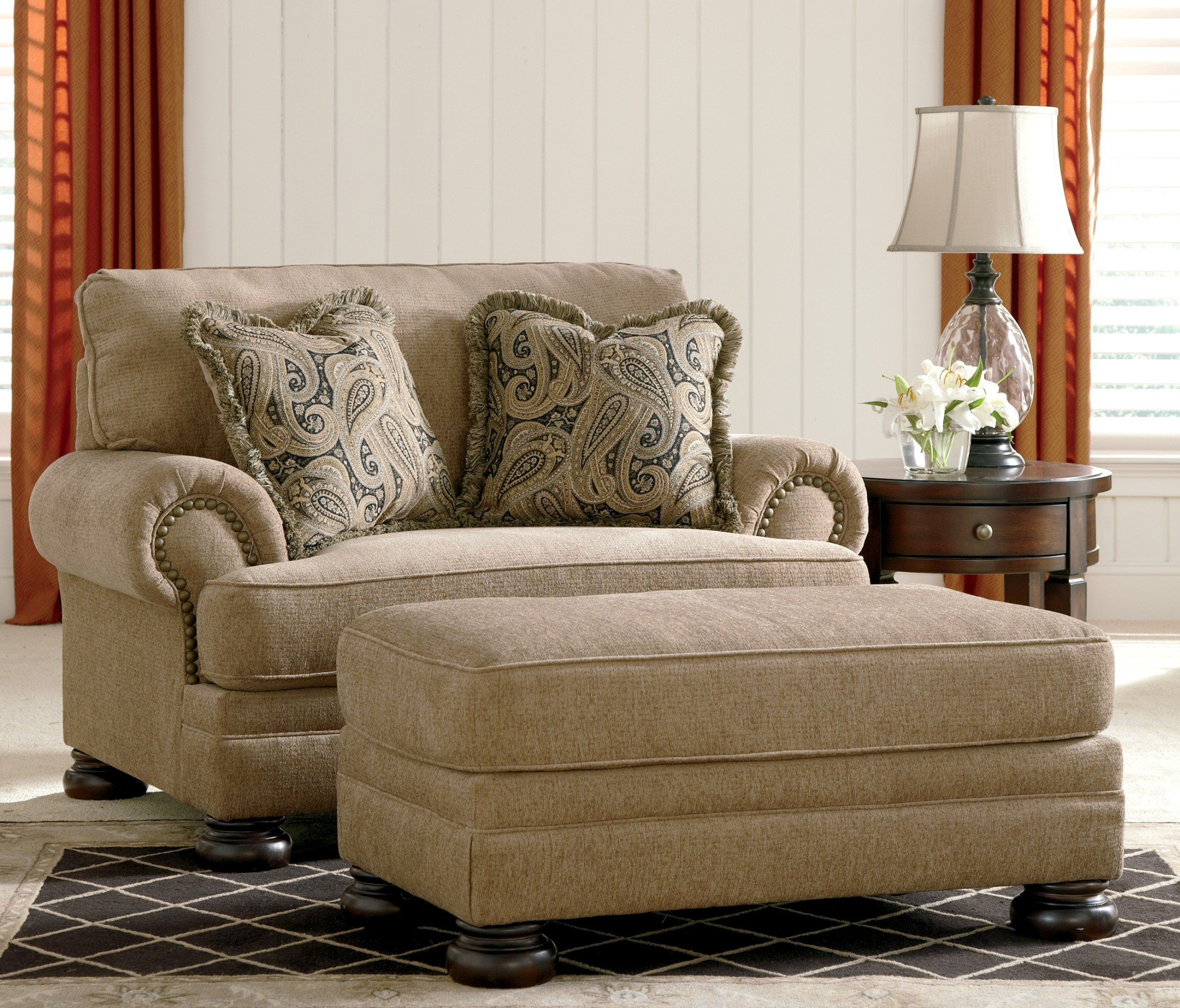 Keereel Sand Living Room Set from Ashley (38200) | Coleman Furniture