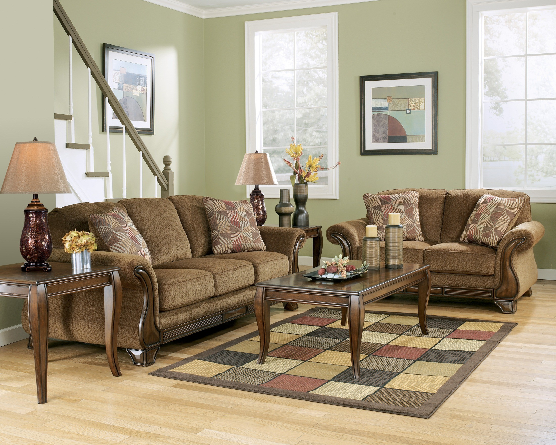 montgomery mocha living room set from ashley 3830038 coleman furniture. Black Bedroom Furniture Sets. Home Design Ideas