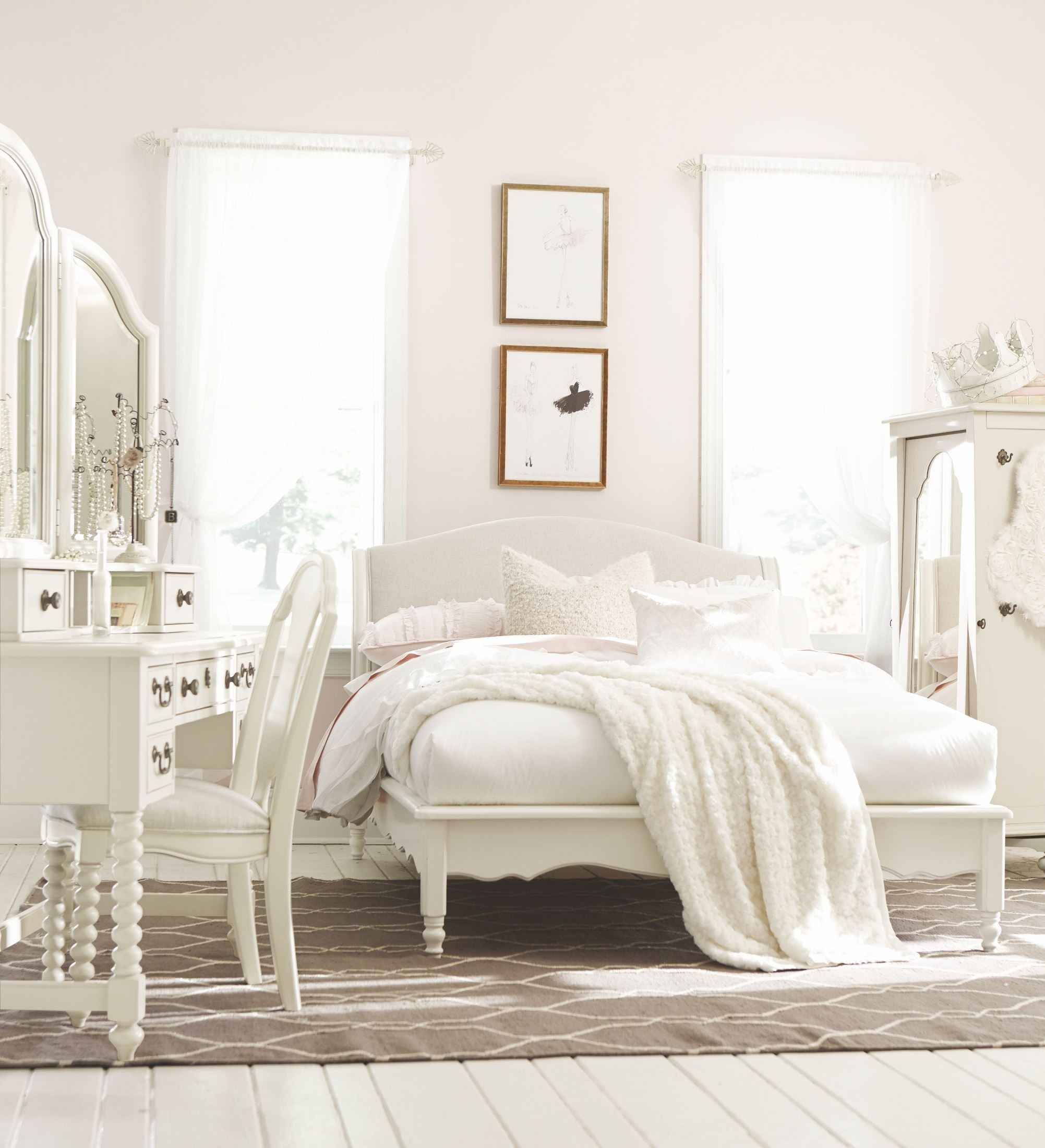 Inspirations Seashell White Youth Avalon Platform Bedroom Set From Legacy  Kids | Coleman Furniture
