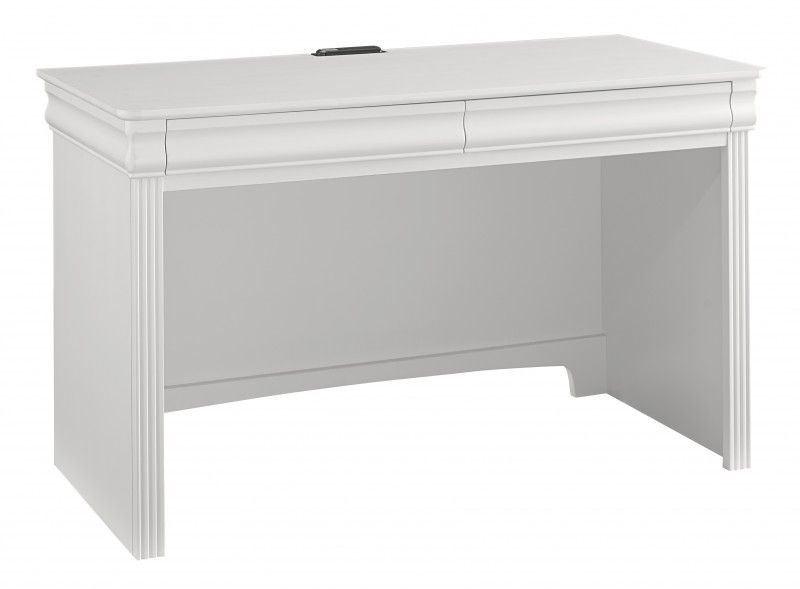 French Market Soft White 2 Drawer Laptop/Tablet Desk From