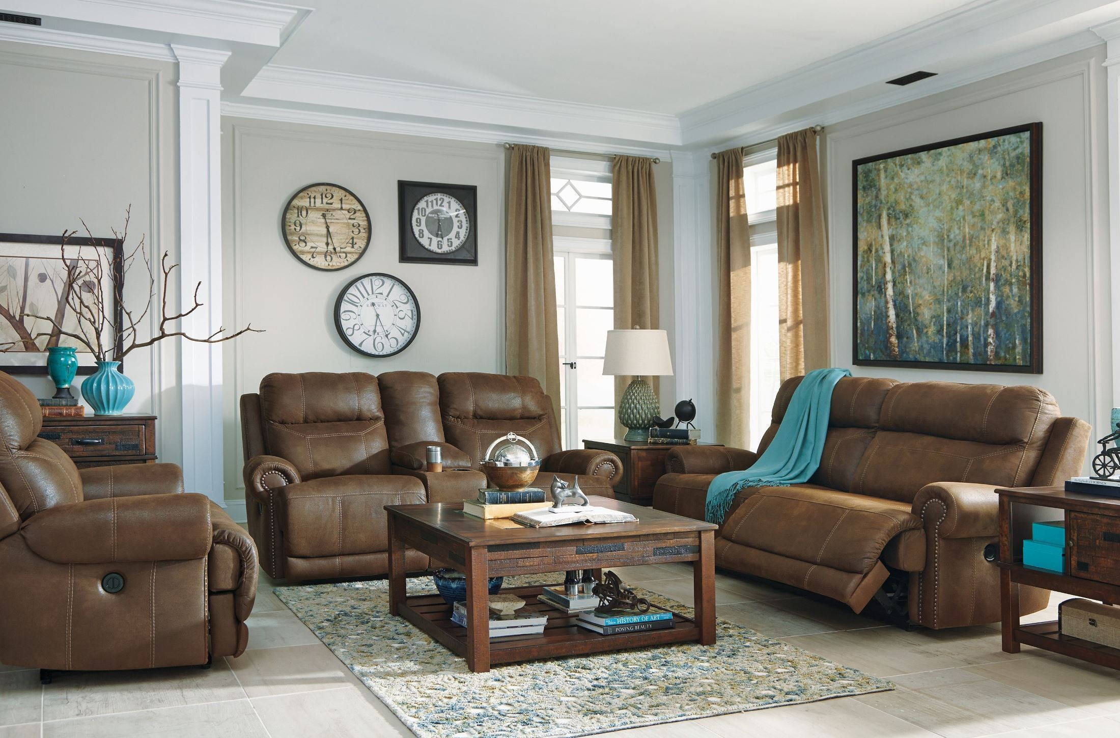 Austere Brown Reclining Sofa from Ashley