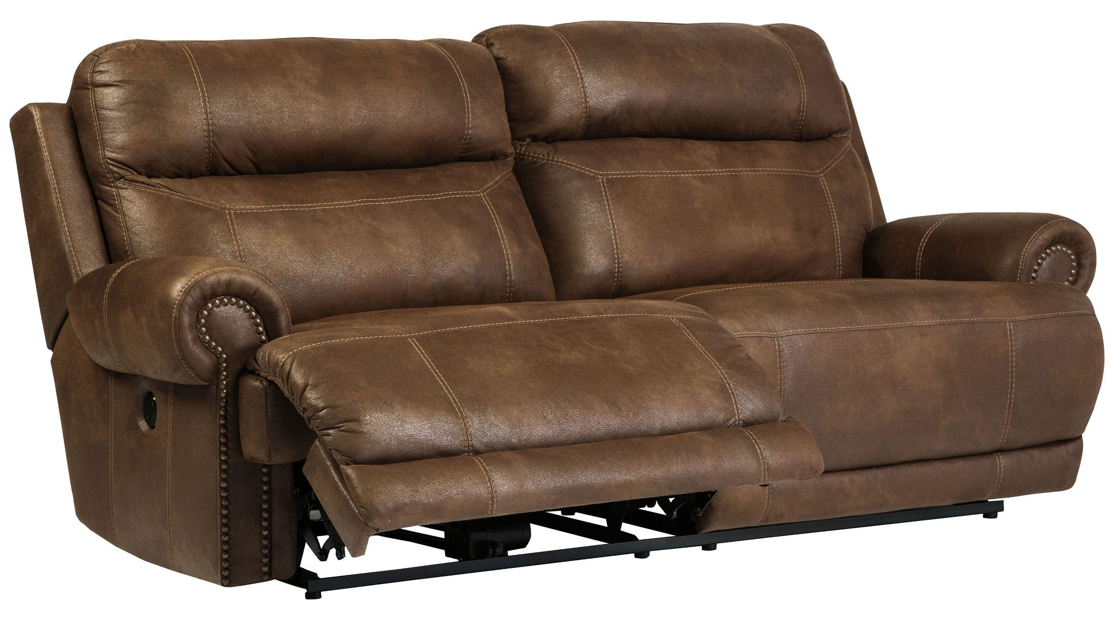 Austere Brown Power Reclining Sofa  sc 1 st  Coleman Furniture & Austere Brown Power Reclining Sofa from Ashley (3840047) | Coleman ... islam-shia.org