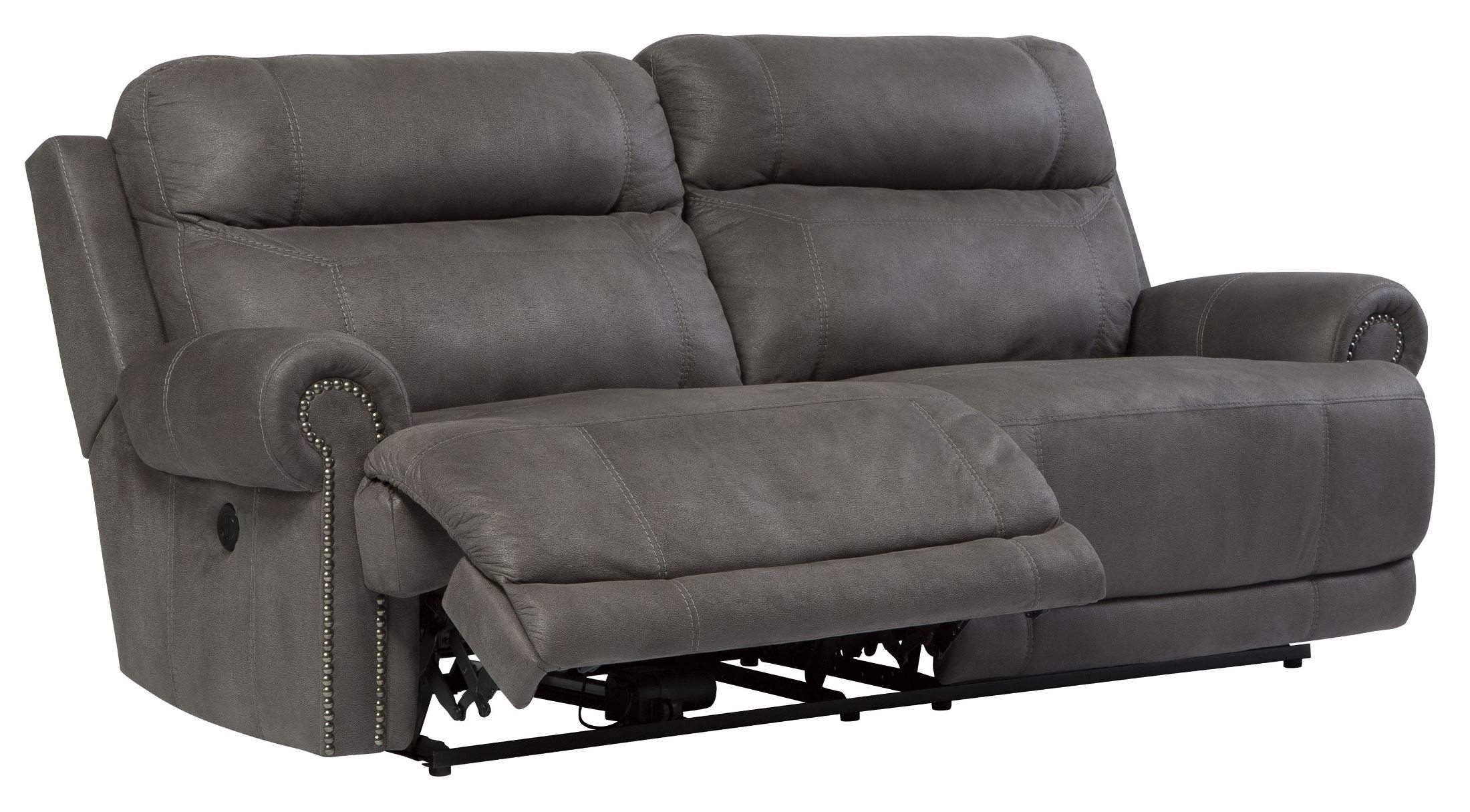 Austere Gray Reclining Sofa  sc 1 st  Coleman Furniture : gray reclining sofa - islam-shia.org