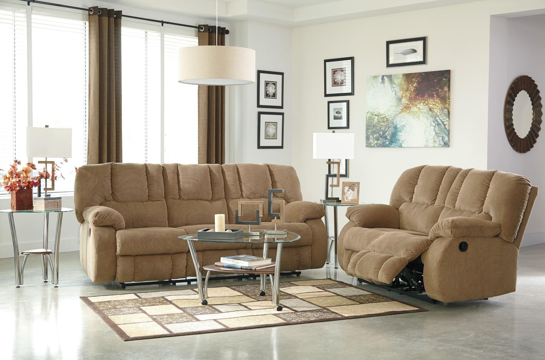 Roan Mocha Reclining Sofa from Ashley