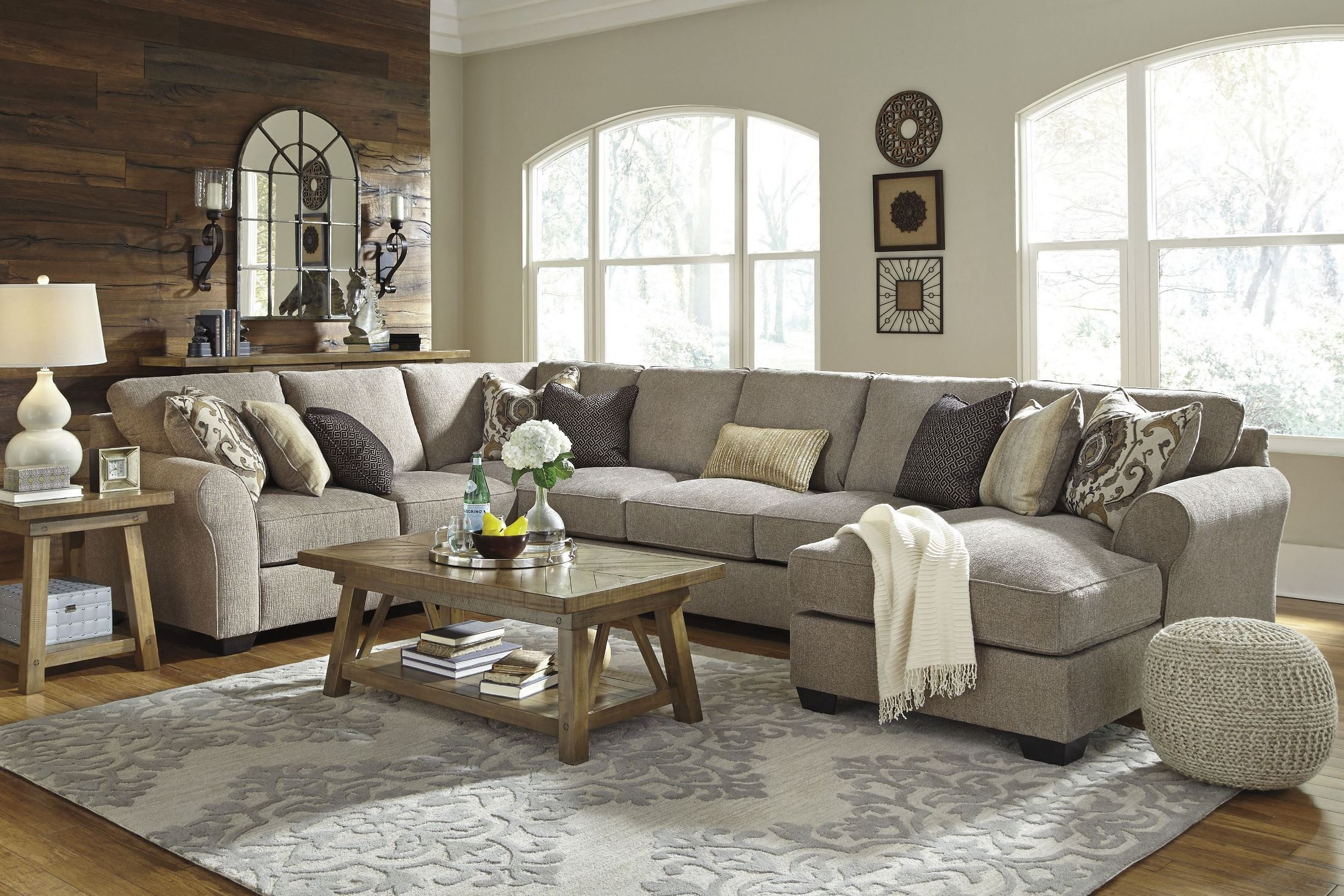Pantomine Driftwood Raf Large Chaise Sectional From Ashley