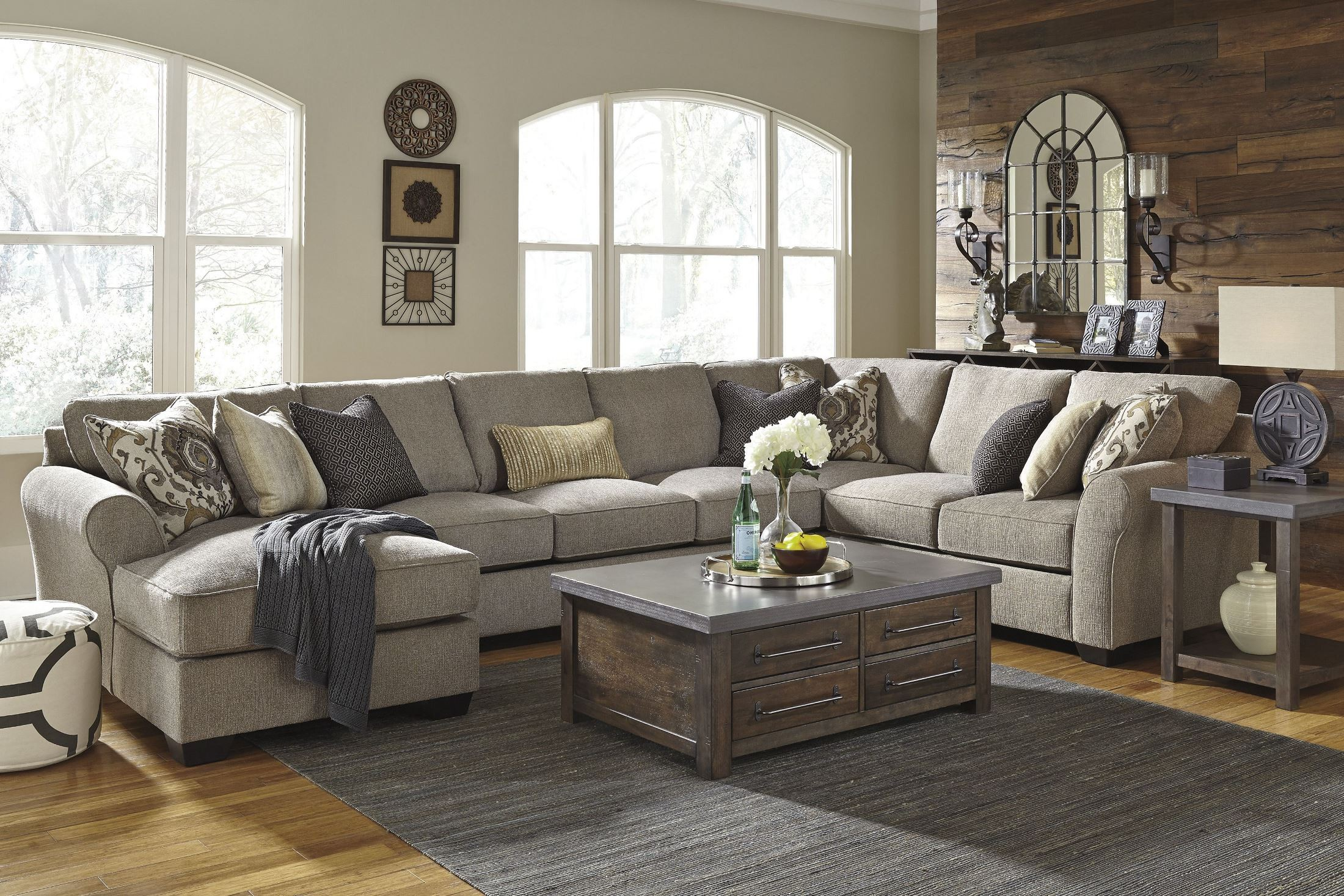 Pantomine Driftwood LAF Chaise Sectional from Ashley