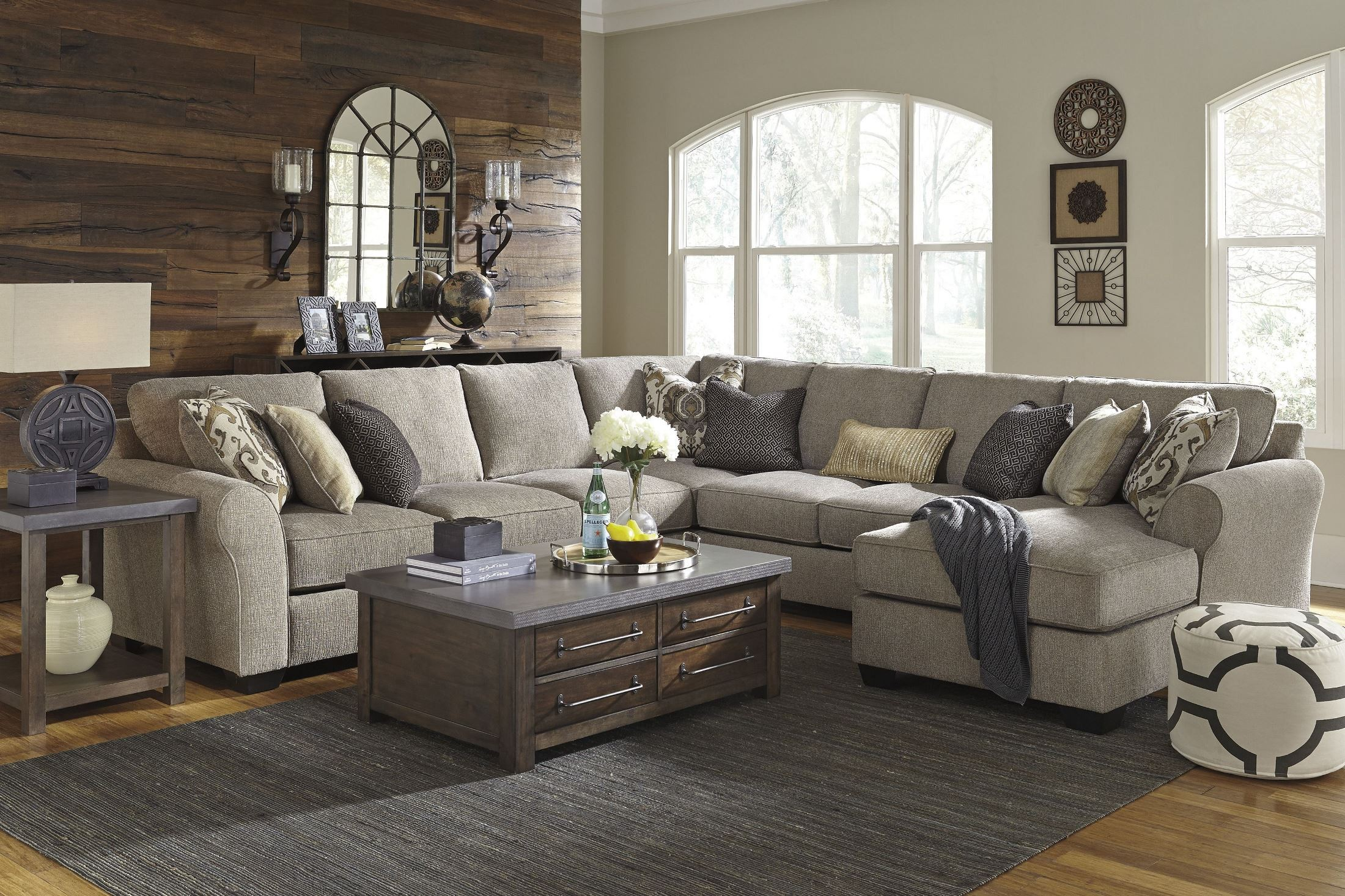 Pantomine Driftwood Raf Chaise Sectional From Ashley