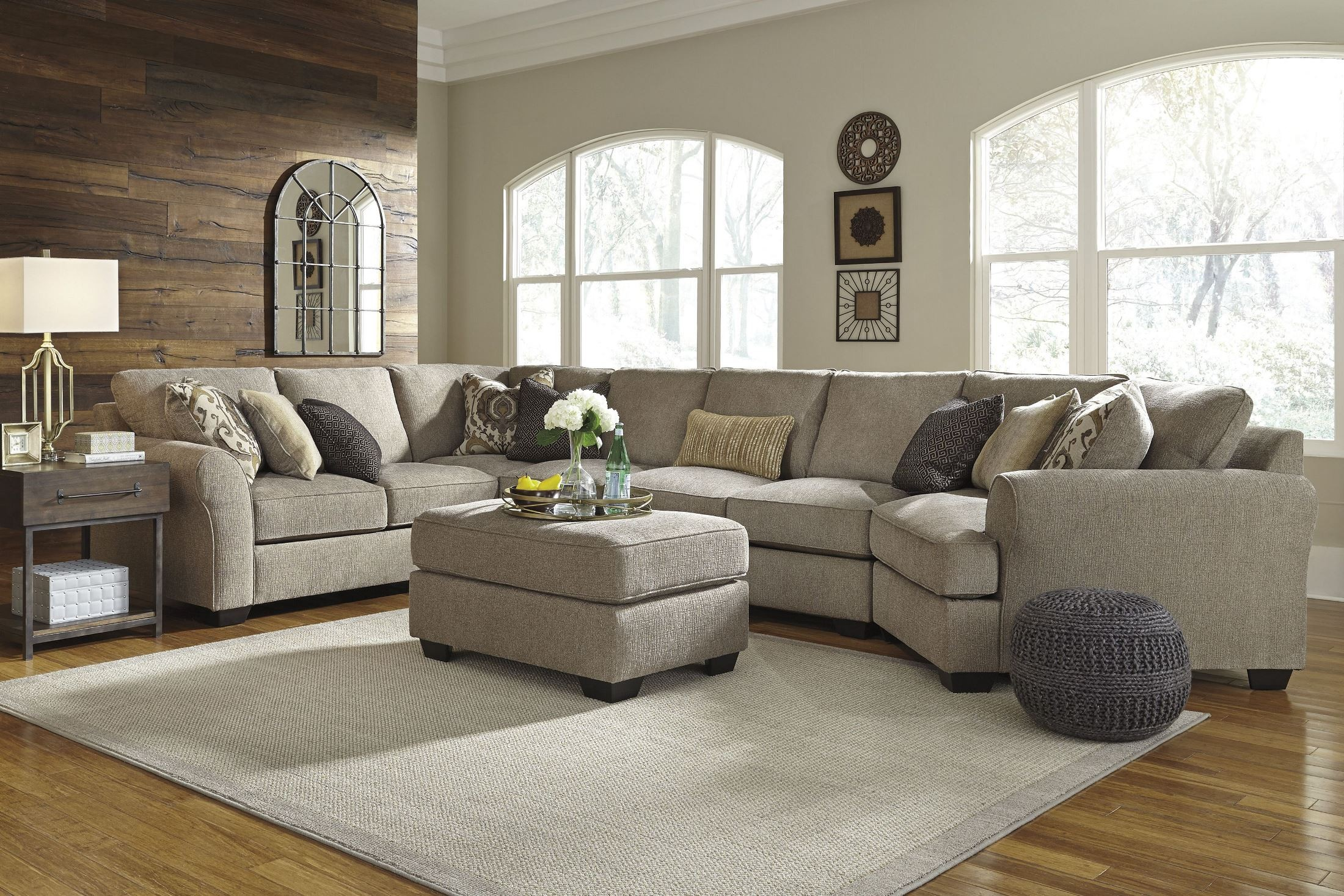 Pantomine Driftwood Raf Large Cuddler Sectional From