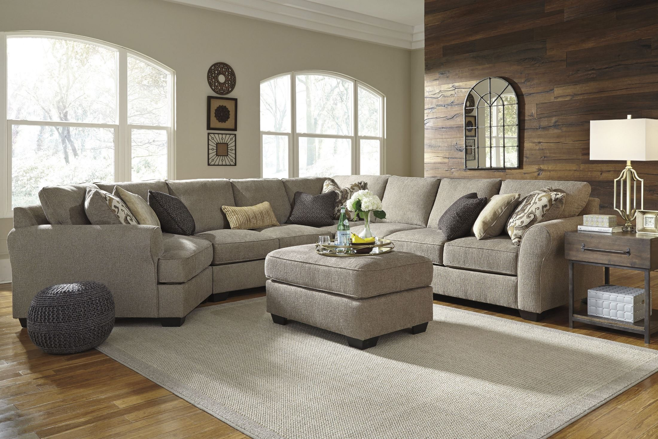 Pantomine Driftwood LAF Cuddler Sectional from Ashley ...