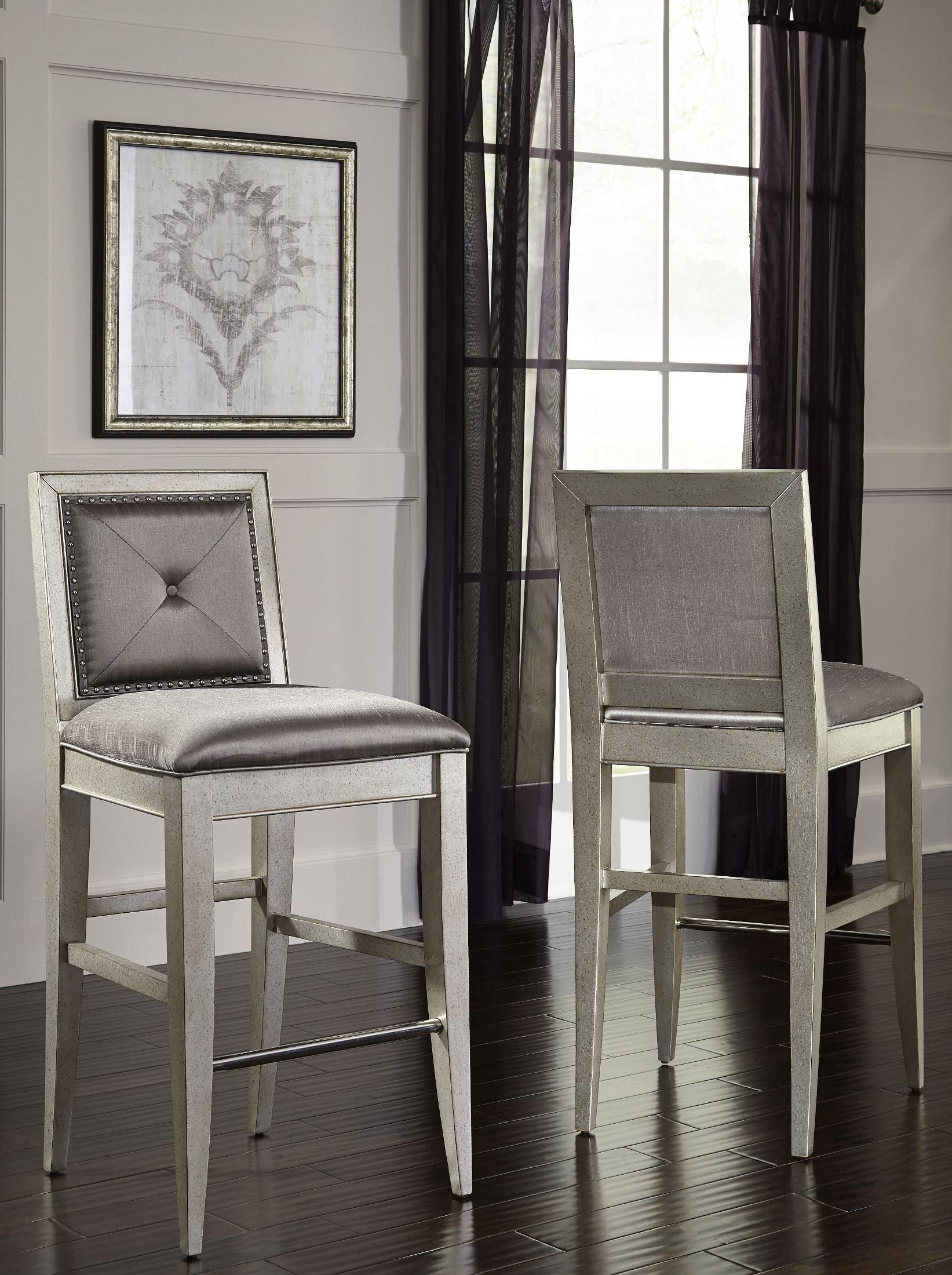 Farrah Silver Bar Stool From Pulaski Coleman Furniture