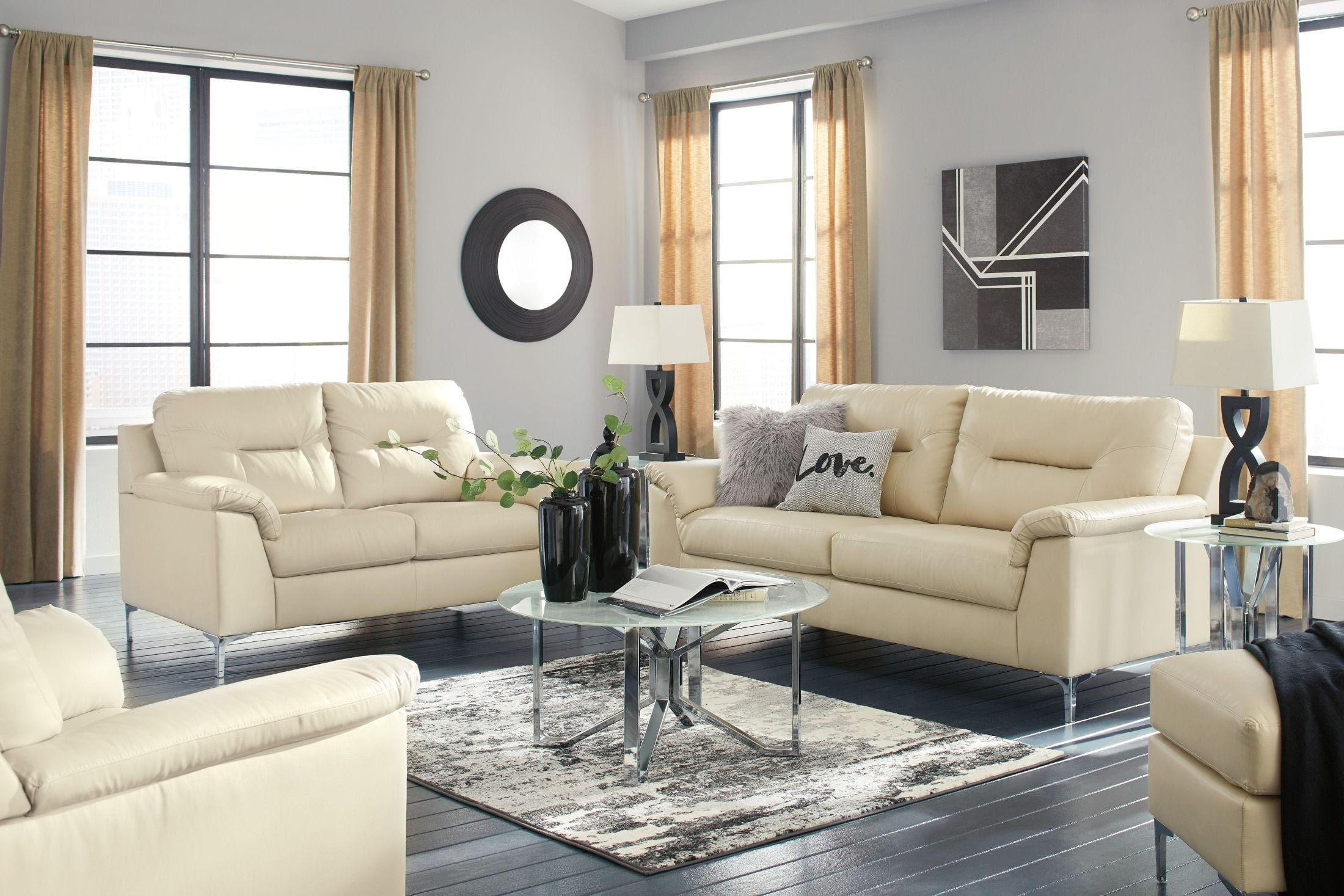 Tensas Cream Living Room Set from Ashley | Coleman Furniture