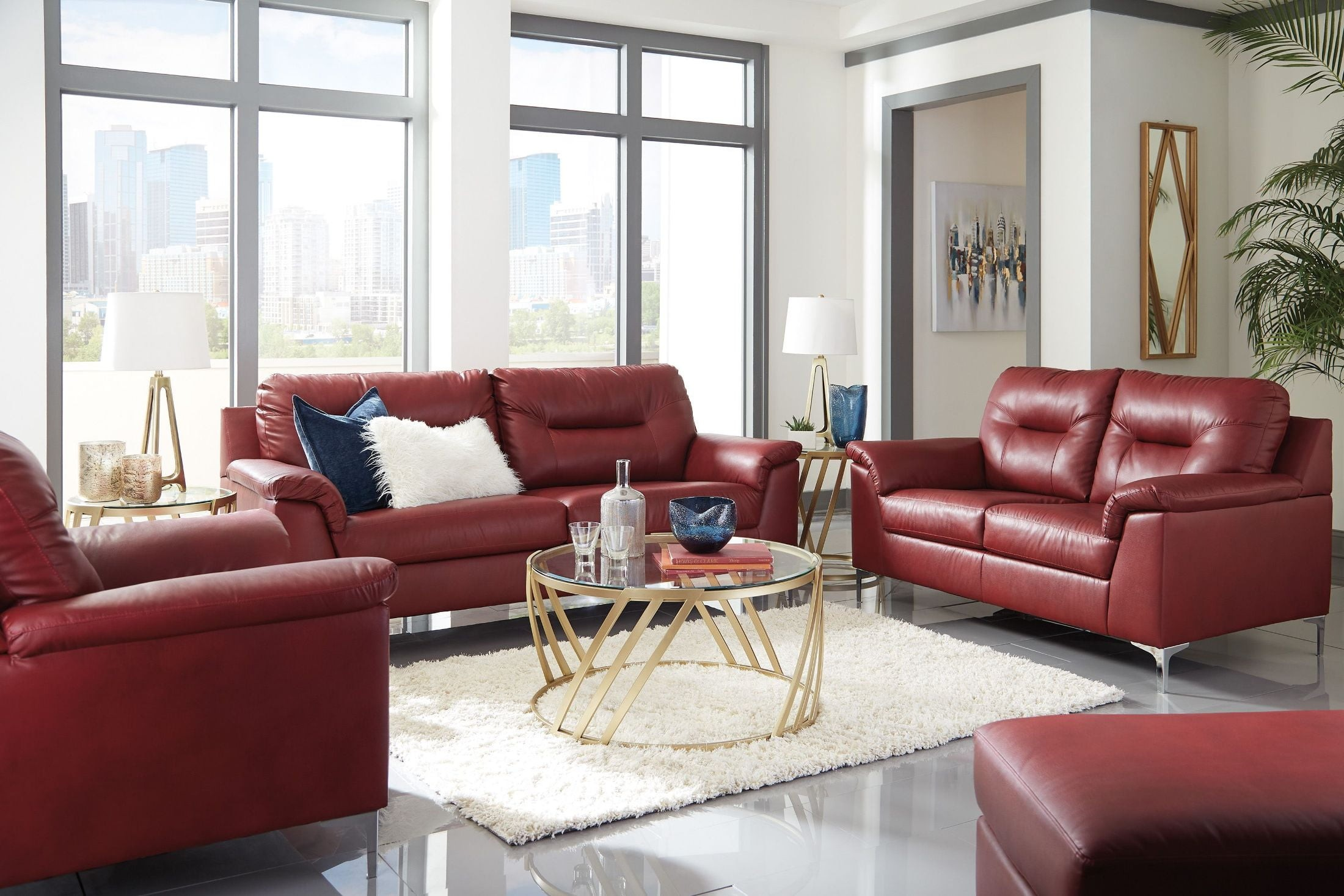 Tensas Red Living Room Set from Ashley | Coleman Furniture
