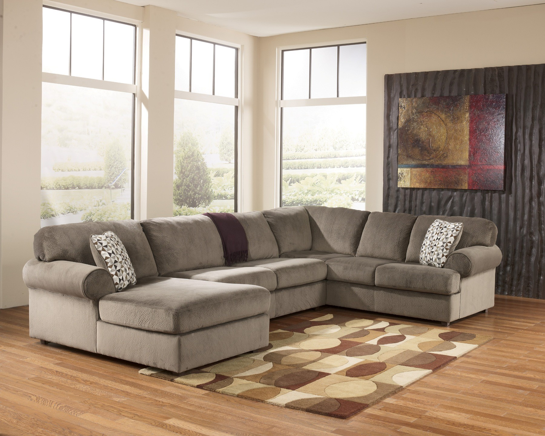 Jessa Place Dune Left Arm Facing Sectional From Ashley
