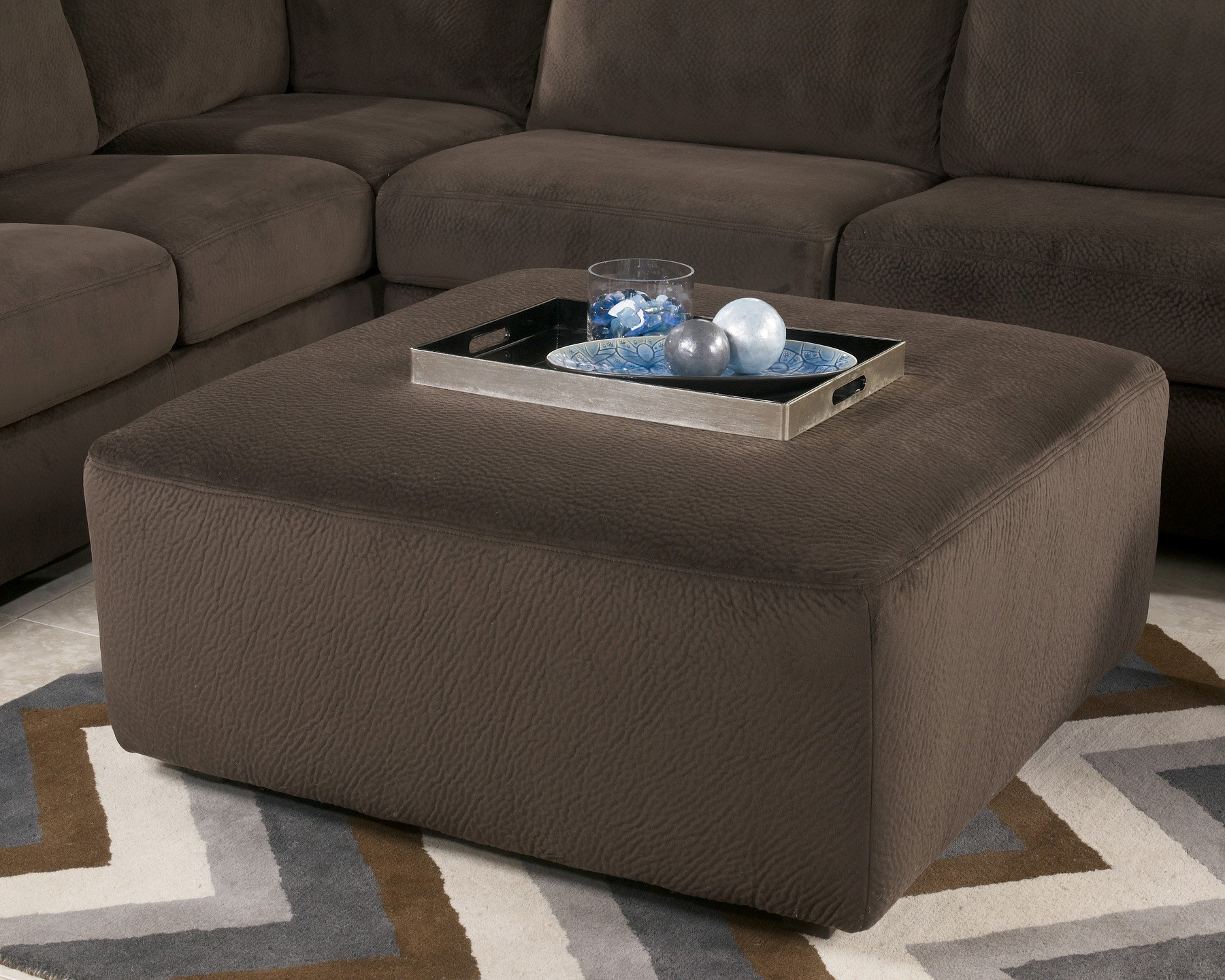 Jessa Place Chocolate Oversized Accent Ottoman : jessa place sectional - Sectionals, Sofas & Couches