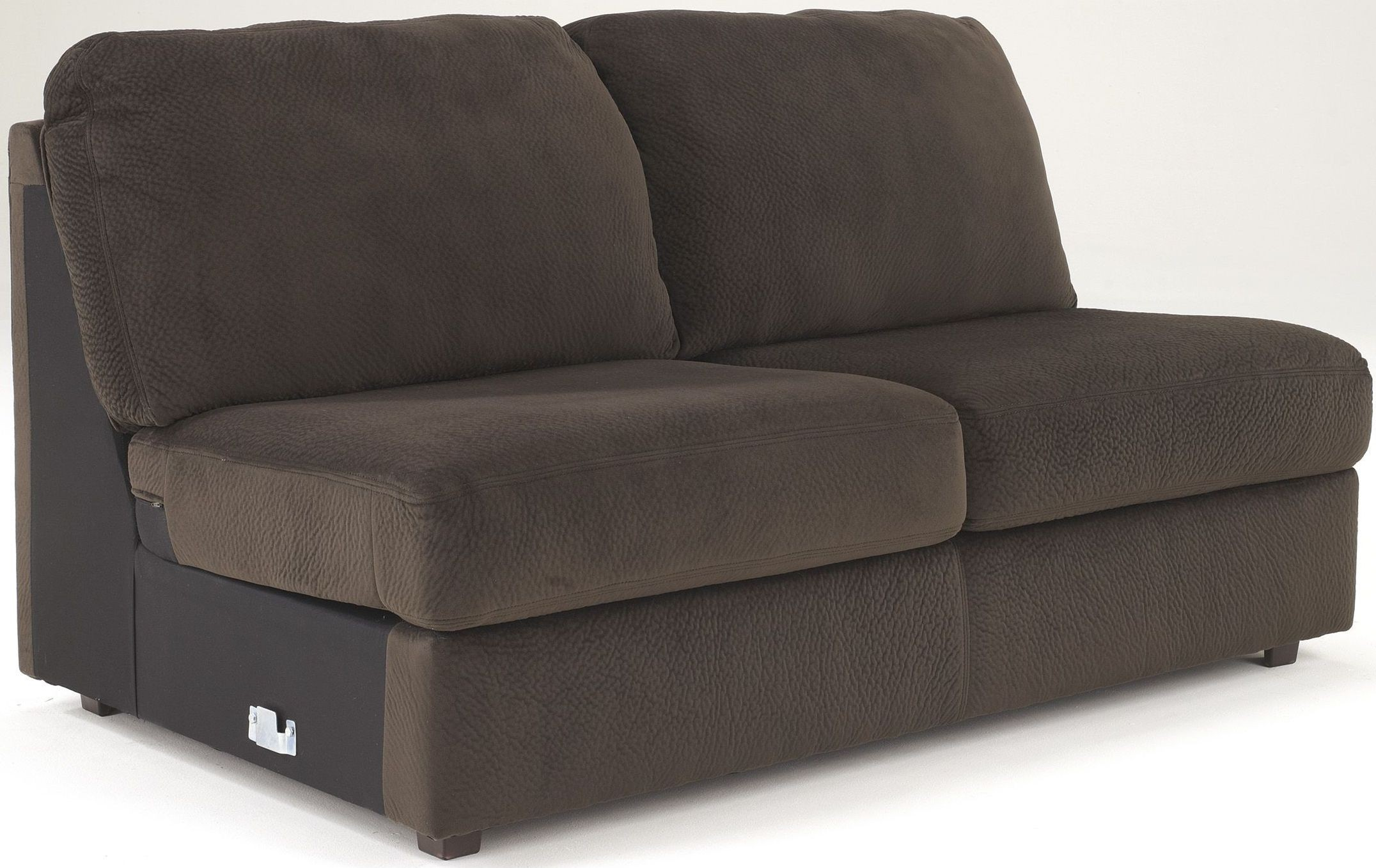 Jessa place chocolate right arm facing sectional from for Chaise 3 places