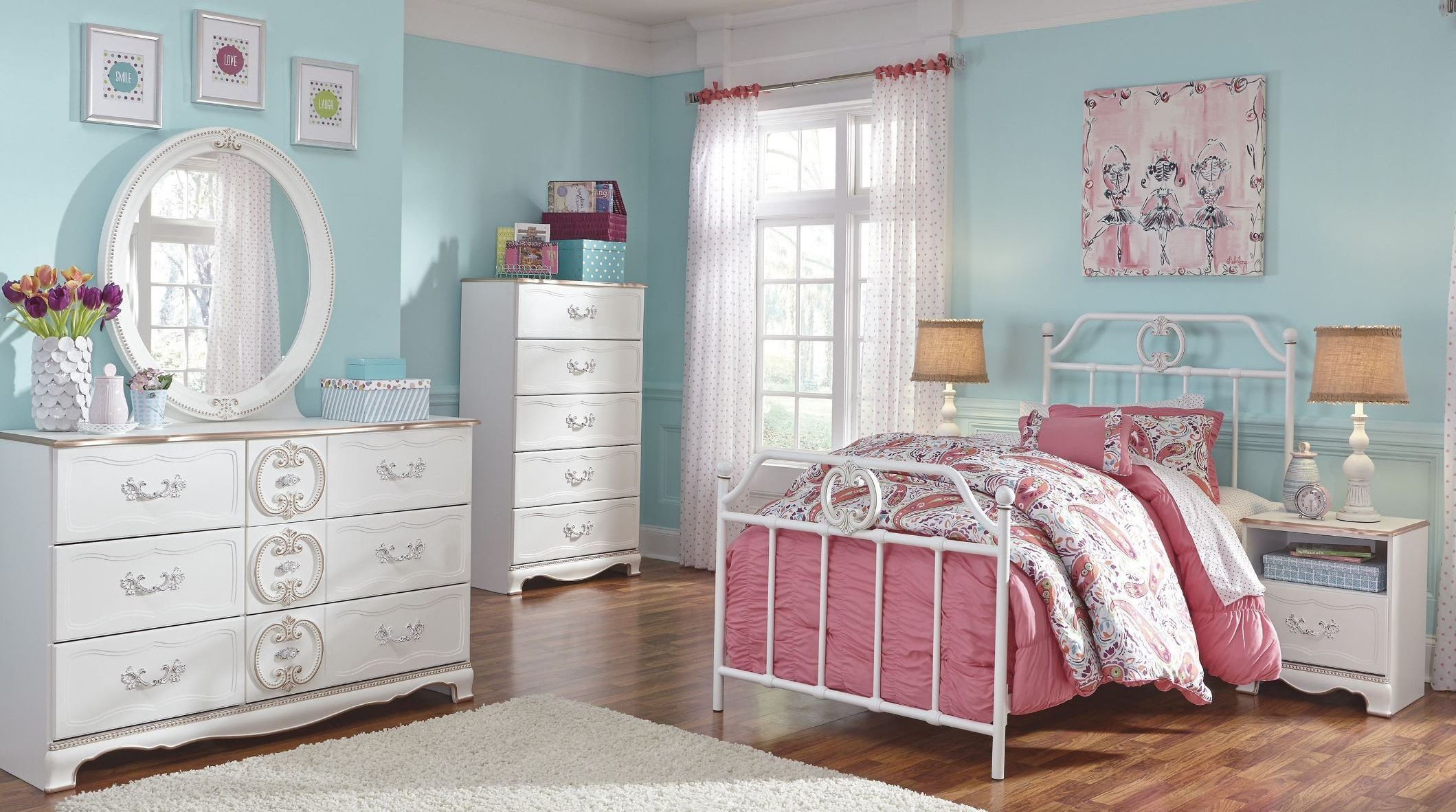 Korabella Youth Metal Bedroom Set From Ashley B355 71