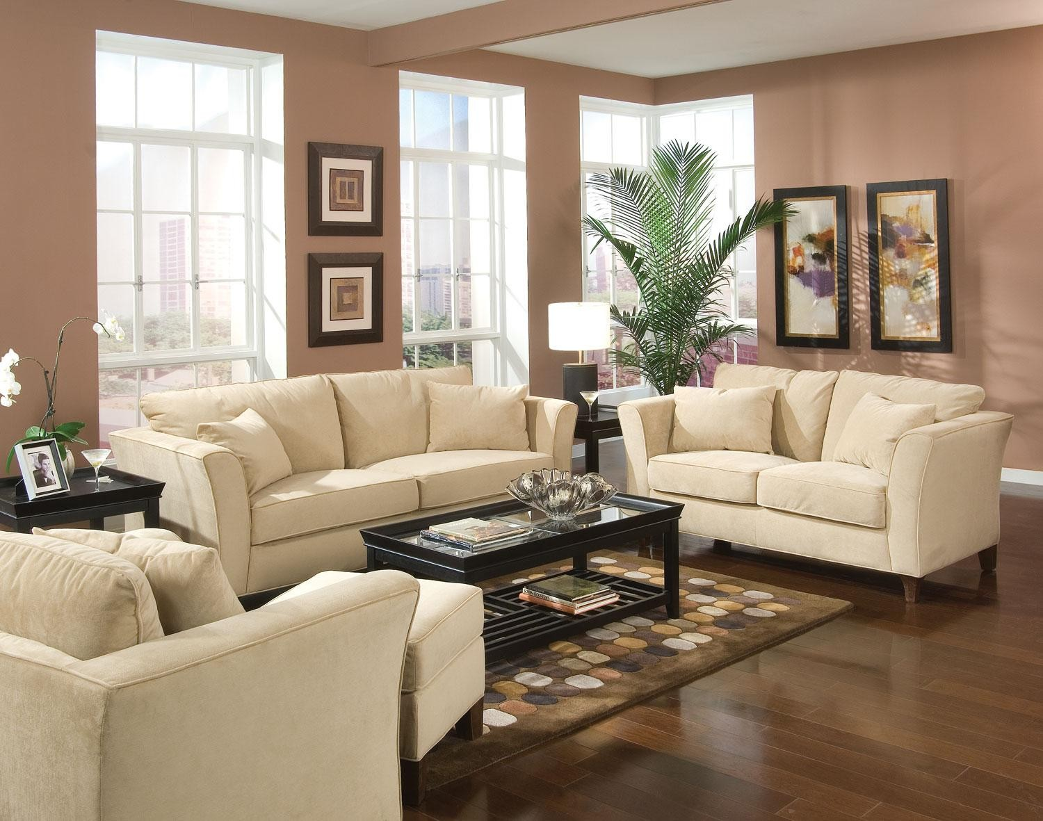 Park Place Cream Living Room Set - 500231 from Coaster (500231 ...