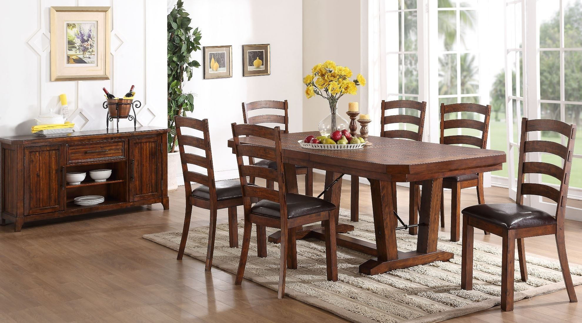 distressed dining room furniture | Lanesboro Distressed Walnut Dining Room Set from New ...