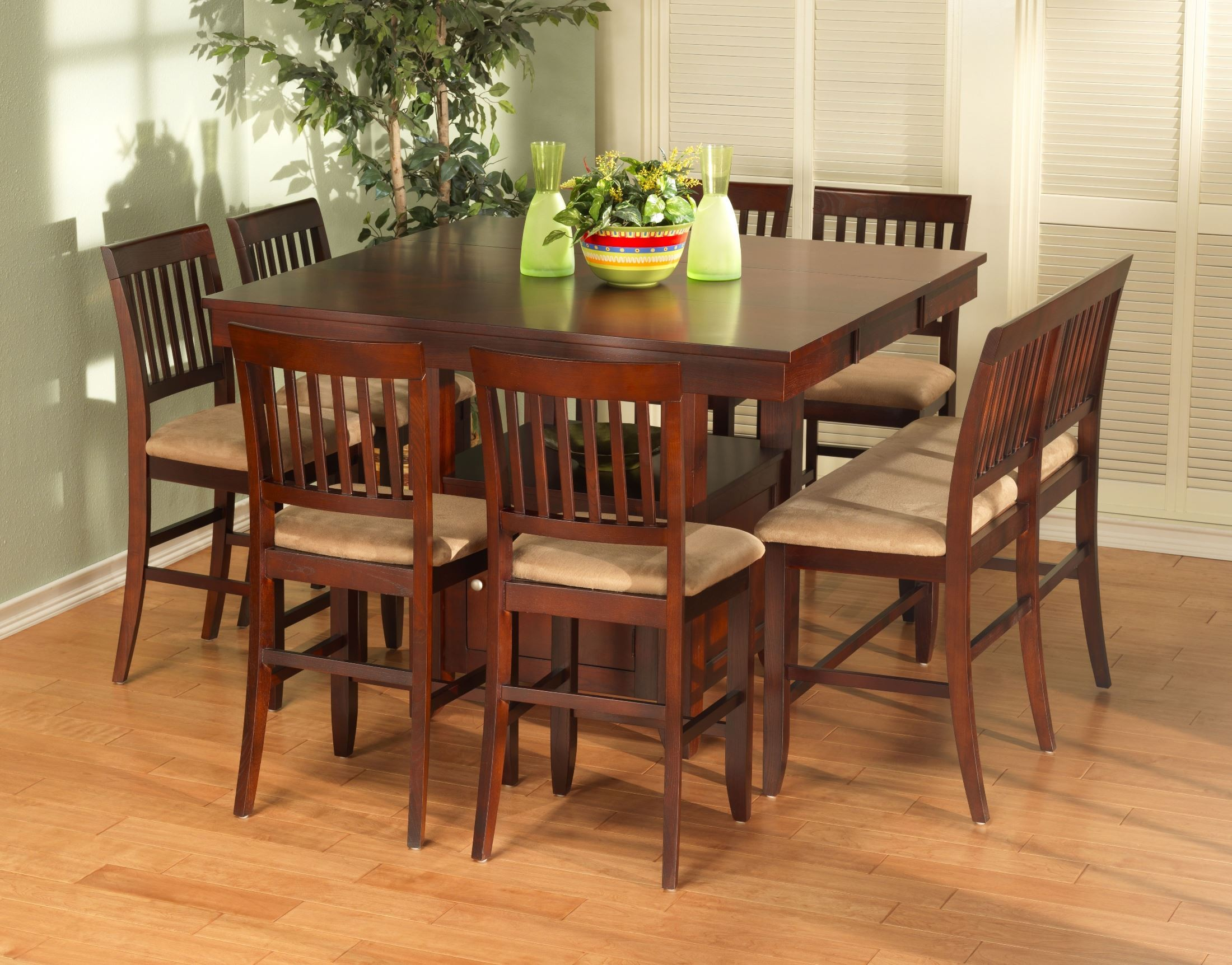 Brendan counter height storage dining room set from new for Dining room storage