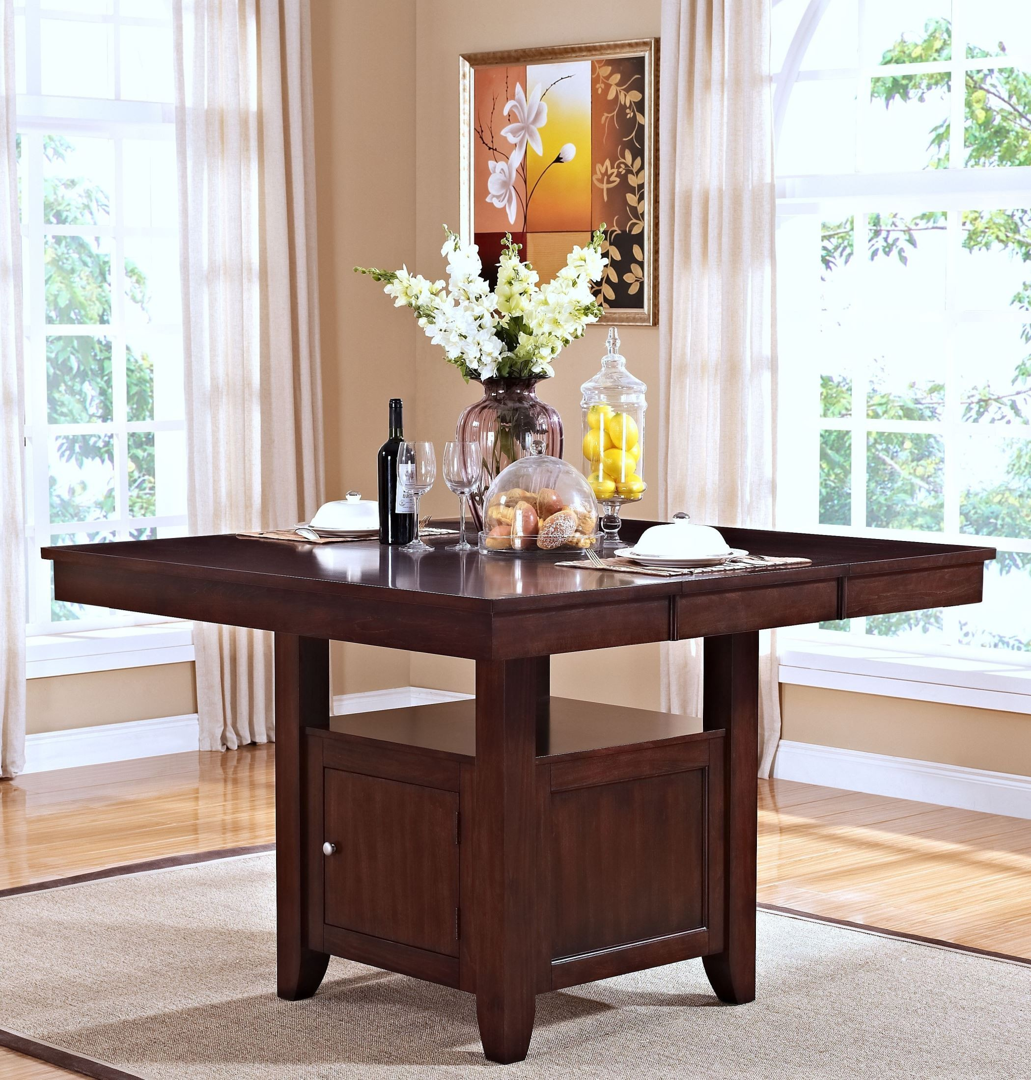 Kaylee Tudor Counter Height Storage Table From New