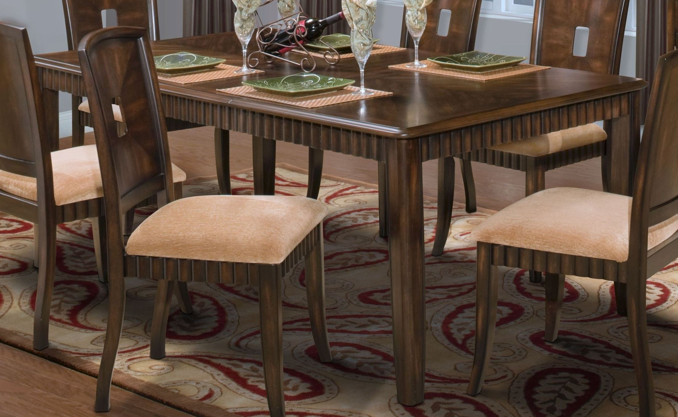 Edgemont standard dining table from new classics 40 112 for Standard dining table