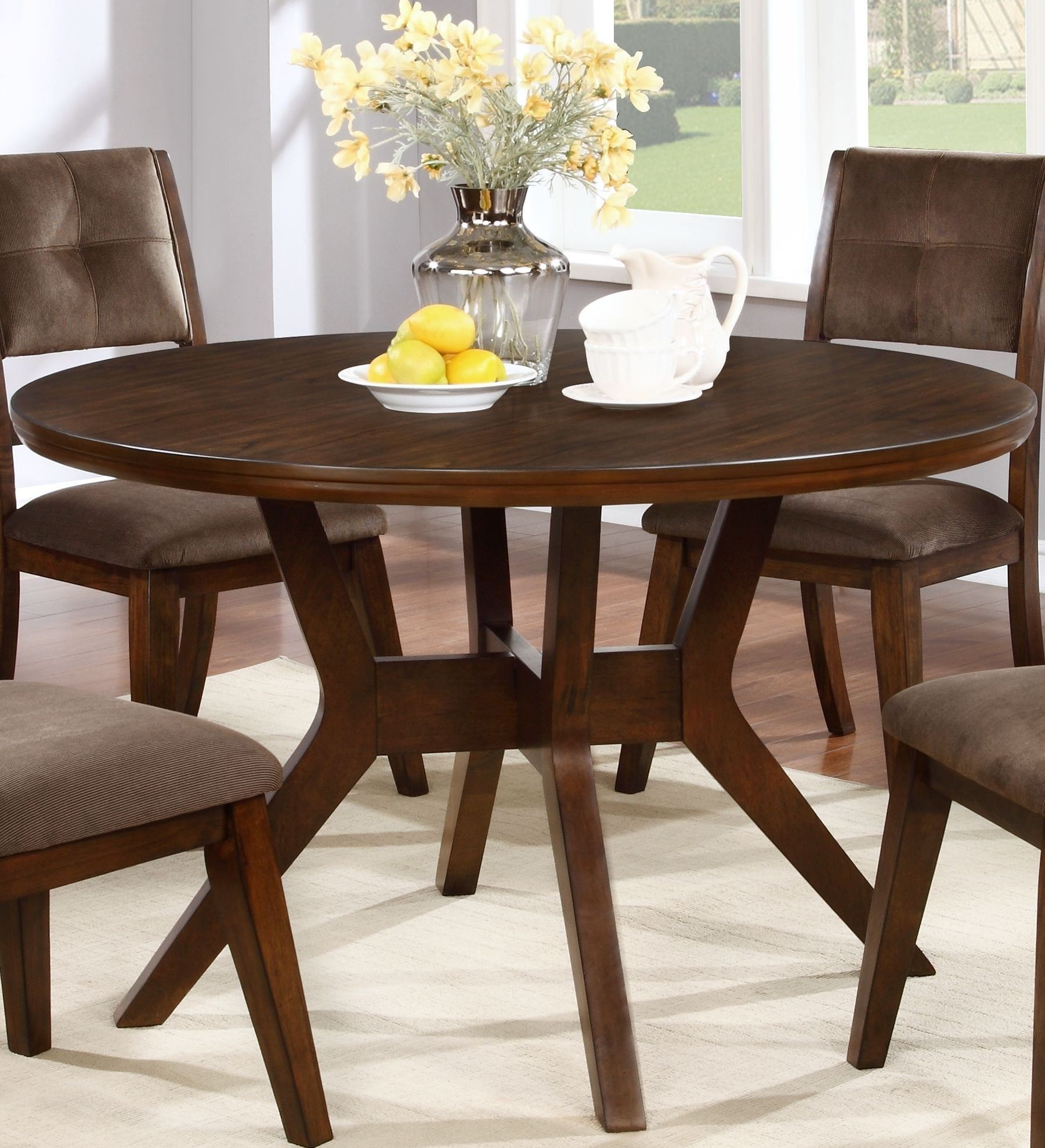 porter walnut round dining table from new classic coleman furniture. Black Bedroom Furniture Sets. Home Design Ideas