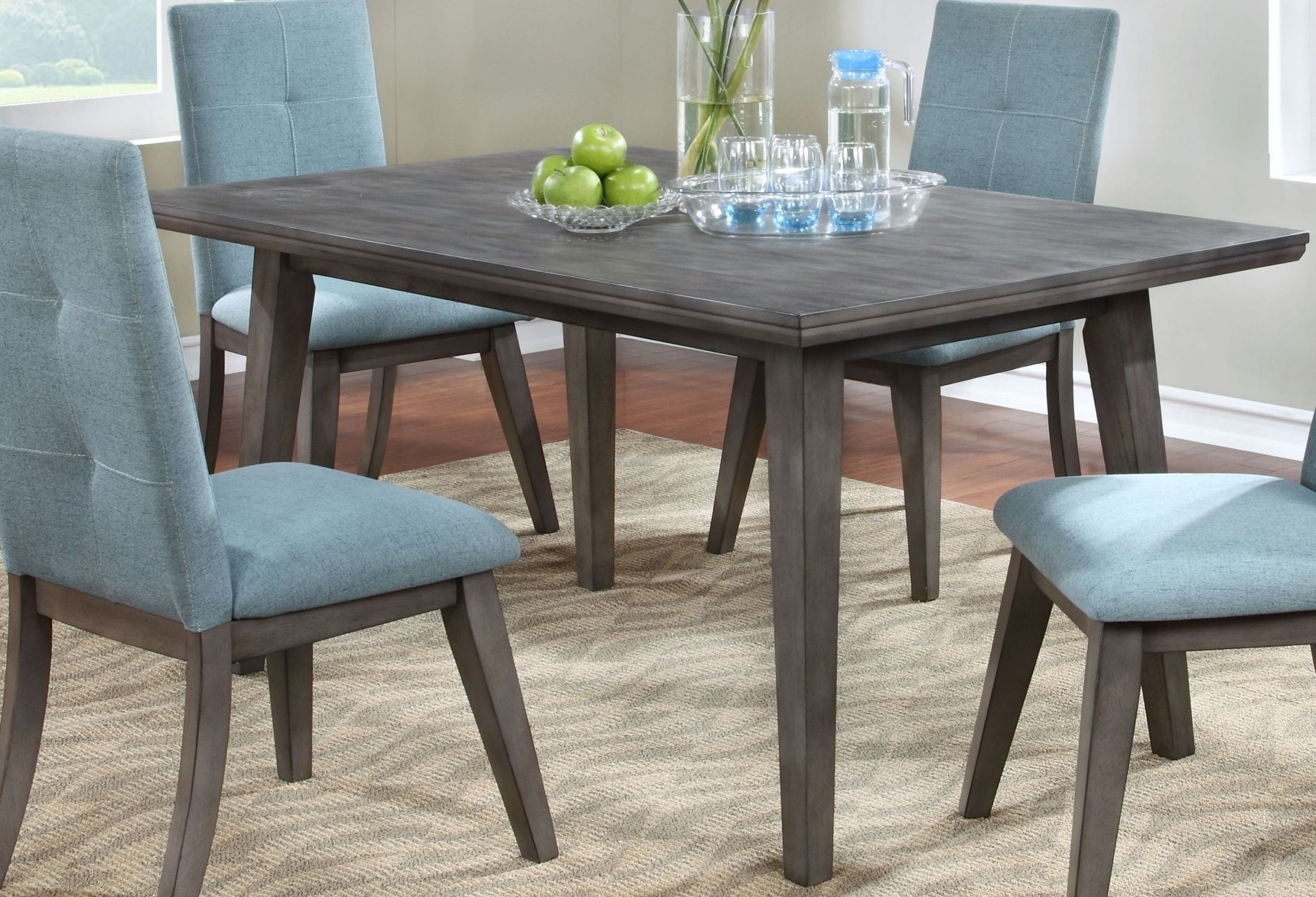 porter gray 60 rectangle dining table from new classic coleman furniture. Black Bedroom Furniture Sets. Home Design Ideas