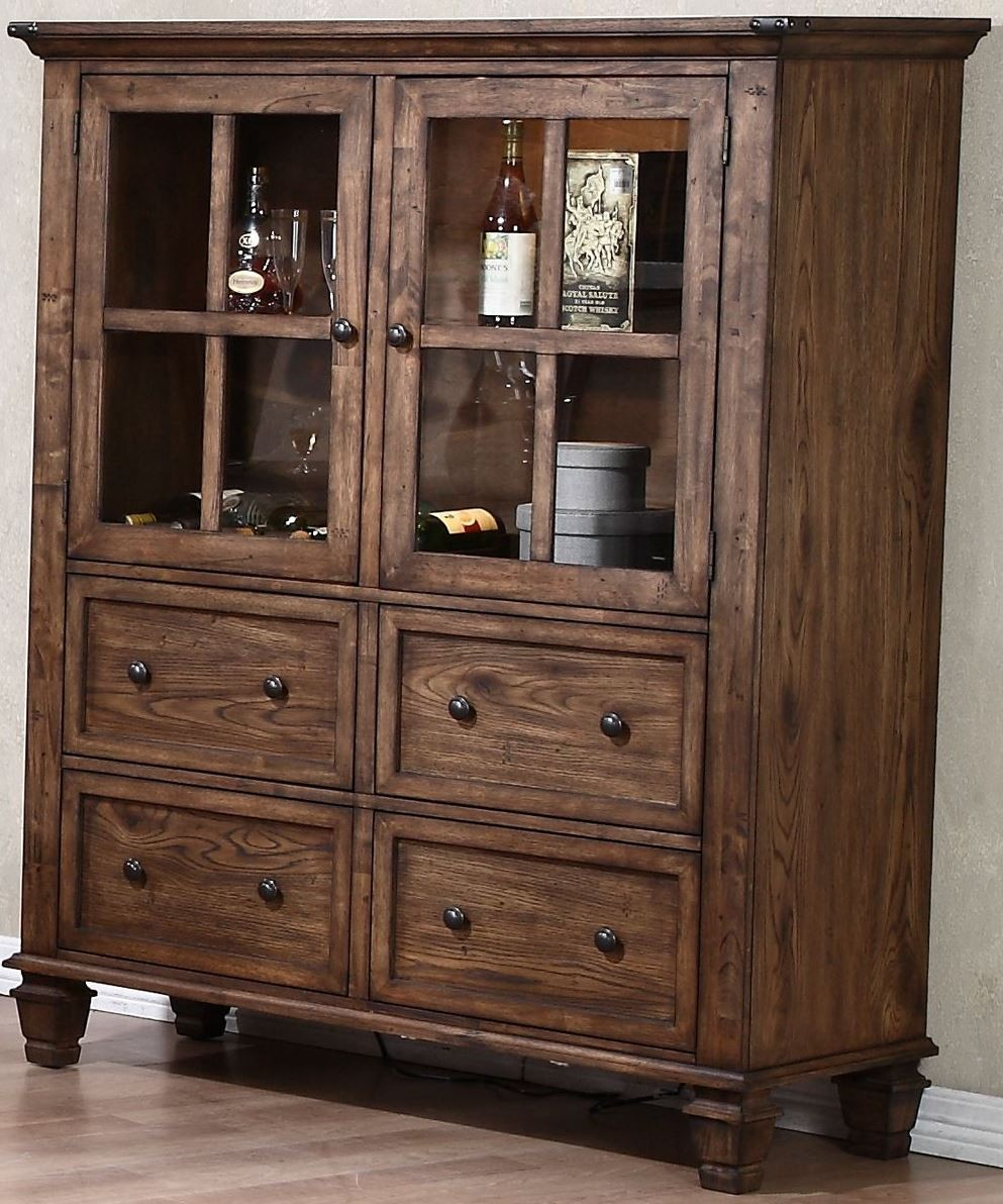 Sutton Manor Distressed Oak Manor China Cabinet From New