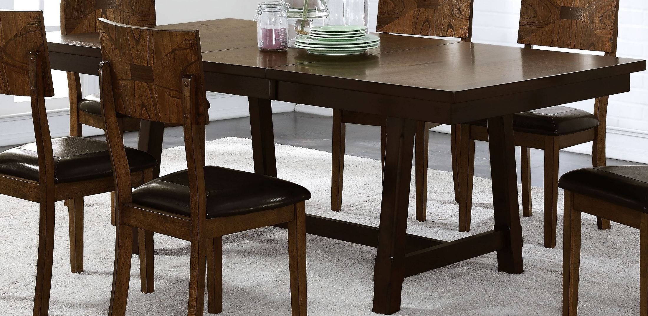 gillian two tone standard dining table from new classic coleman furniture. Black Bedroom Furniture Sets. Home Design Ideas