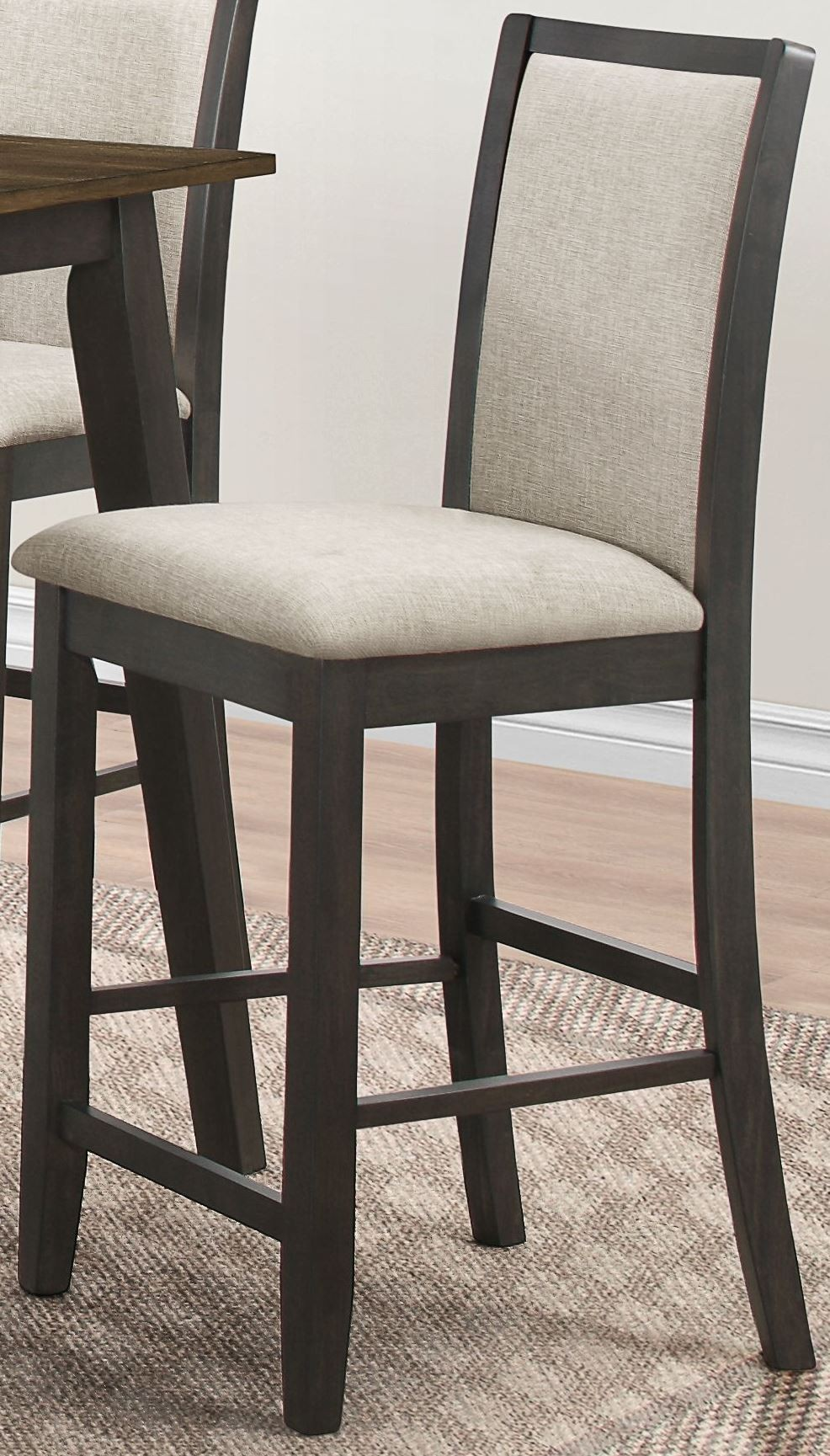 studio 26 antique oak and black counter height dining room set d2626 12 new classics. Black Bedroom Furniture Sets. Home Design Ideas