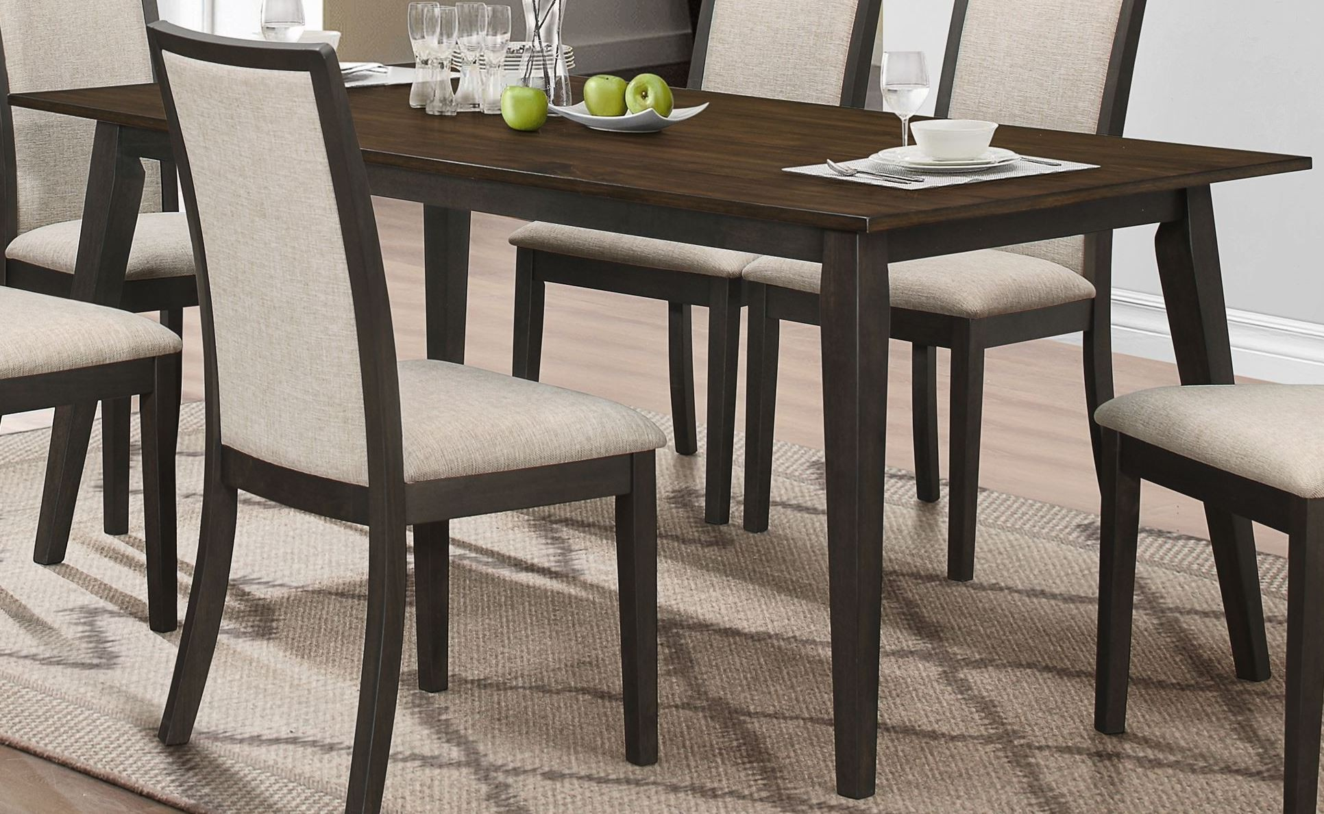 Studio 26 Antique Oak And Black Dining Table From New