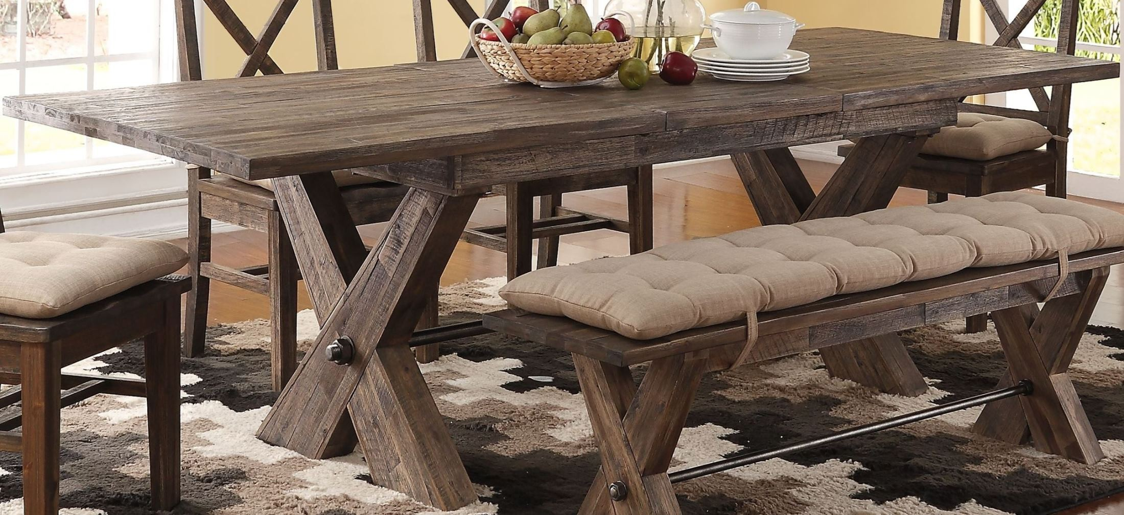 Tuscany Park Vintage Grey Extendable Dining Table from New Classic