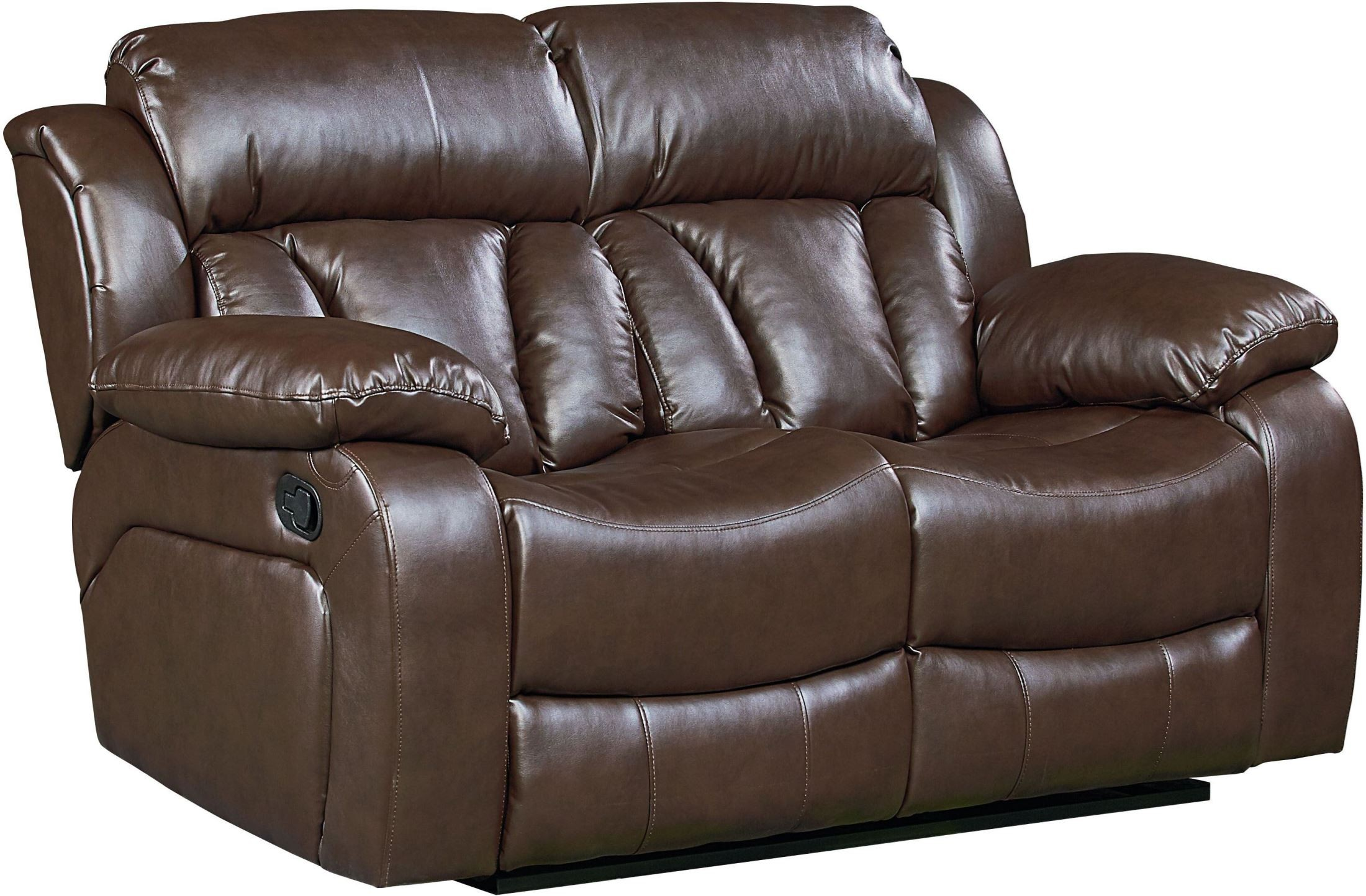 North Shore Chocolate Brown Reclining Loveseat From Standard Furniture Coleman Furniture