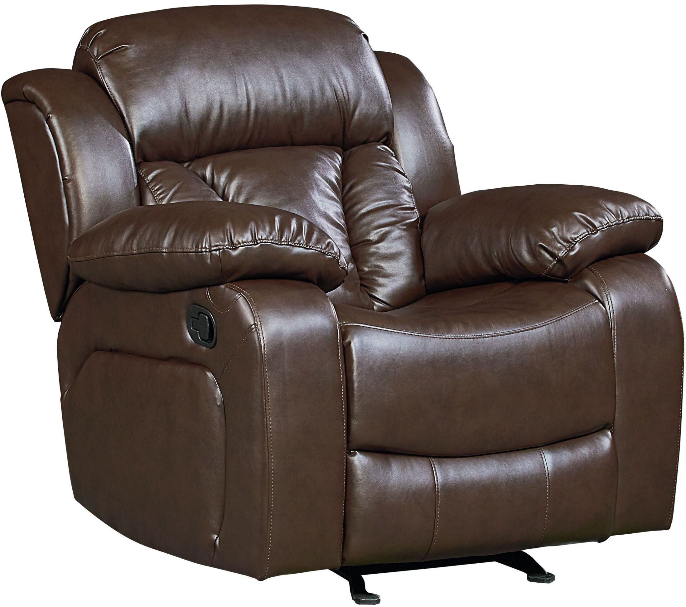 North Shore Chocolate Brown Leather Recliner From Standard